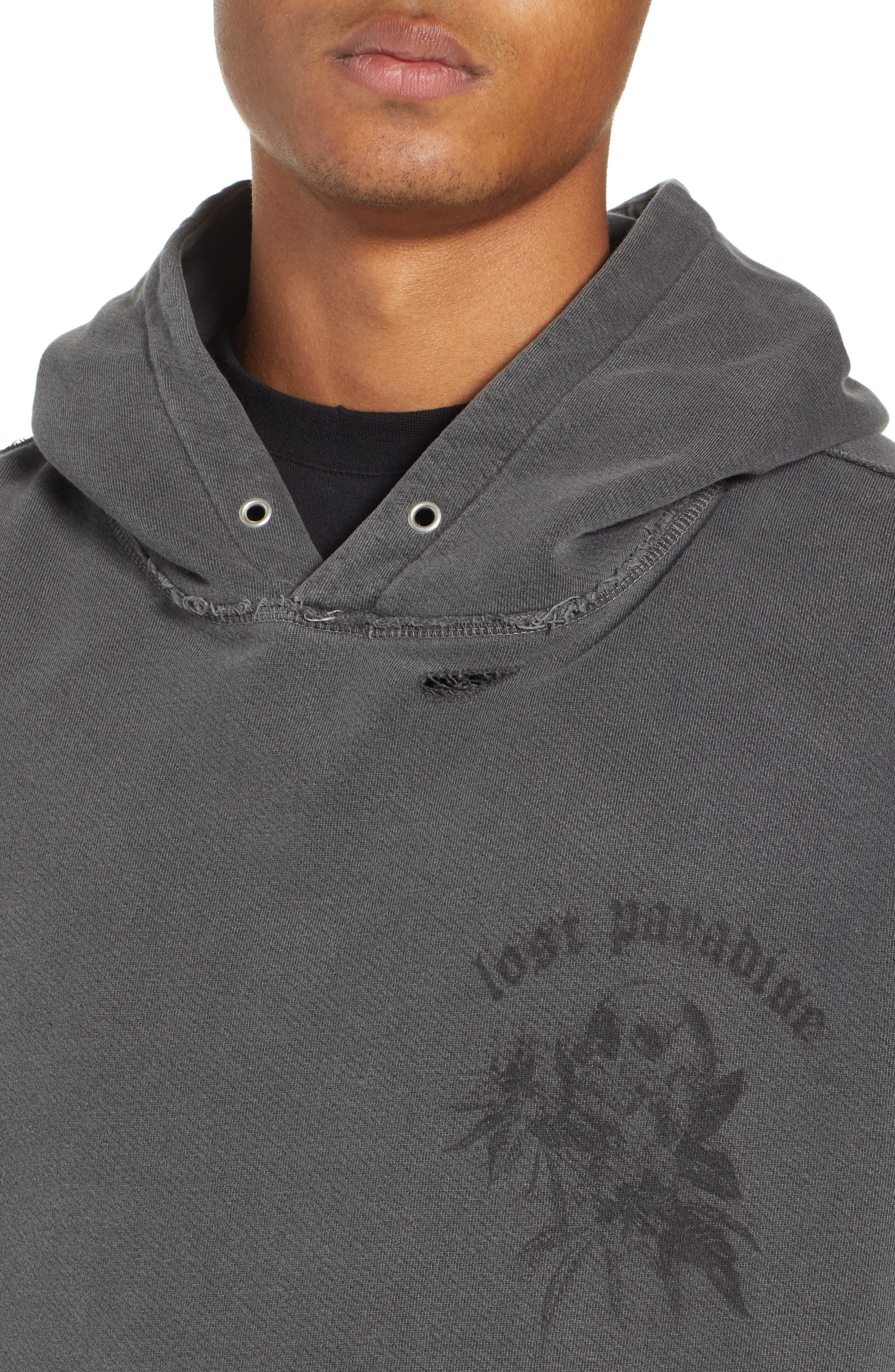 THE KOOPLES, Oversize Hoodie, Alternate thumbnail 4, color, 050