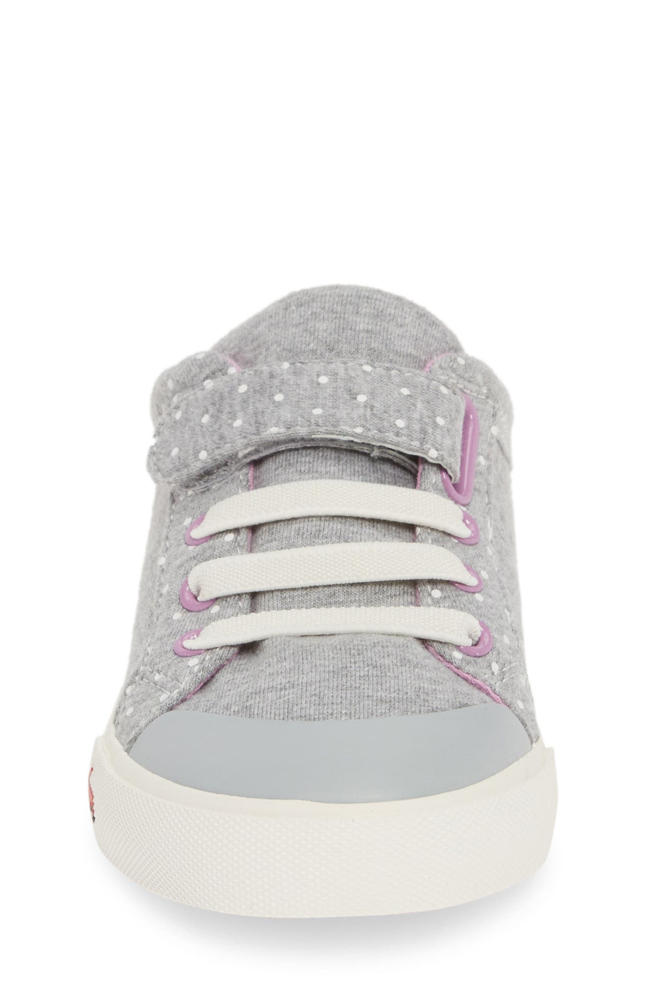 SEE KAI RUN, Kristin Sneaker, Alternate thumbnail 4, color, GRAY/ PURPLE JERSEY