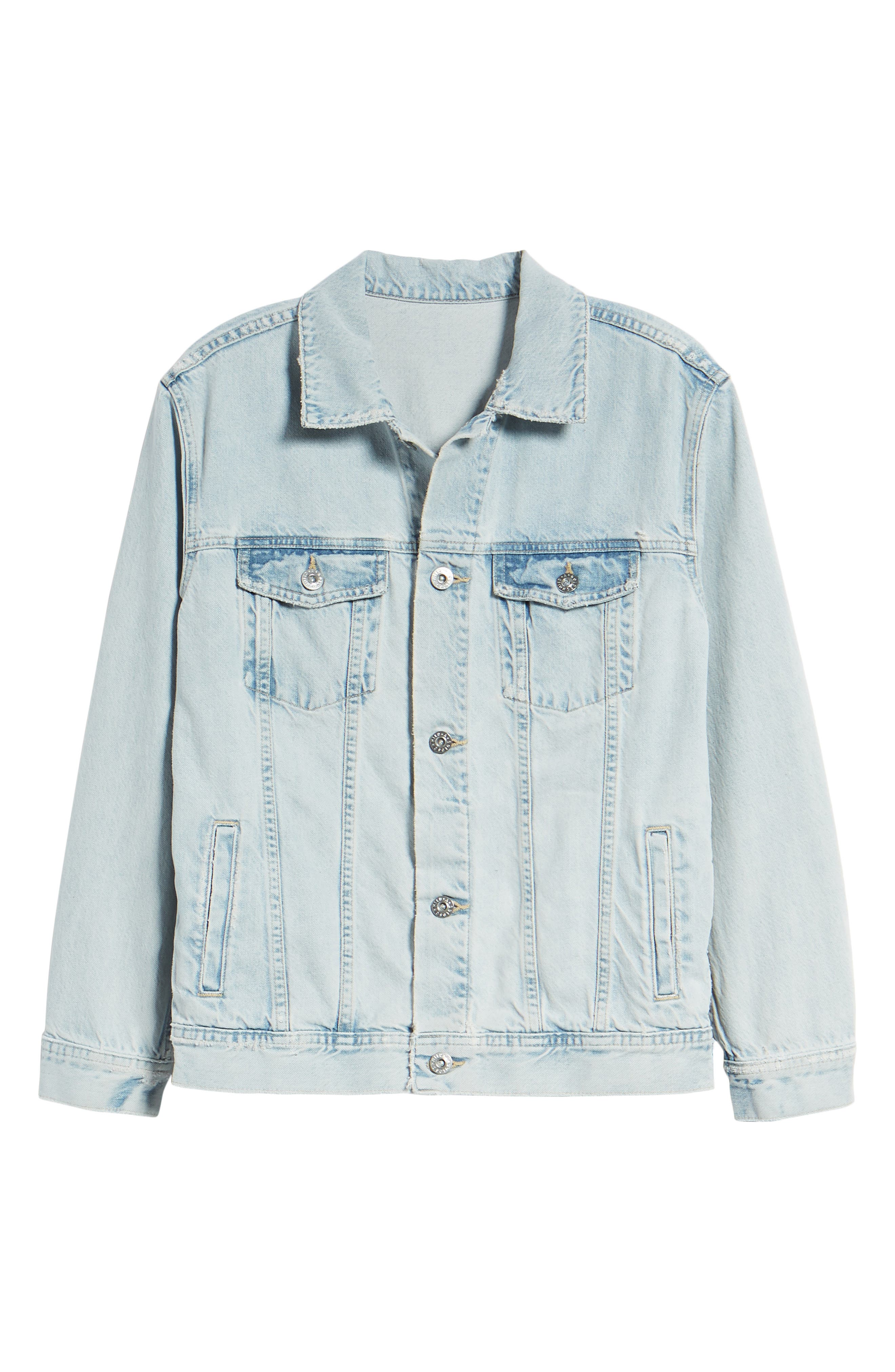 AG, Nancy Denim Jacket, Alternate thumbnail 6, color, SHATTERED INDIGO