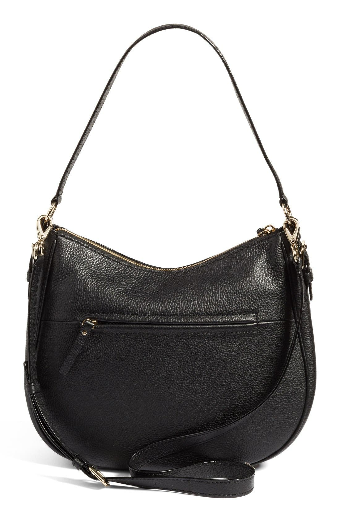 KATE SPADE NEW YORK, cobble hill mylie leather hobo, Alternate thumbnail 4, color, 001