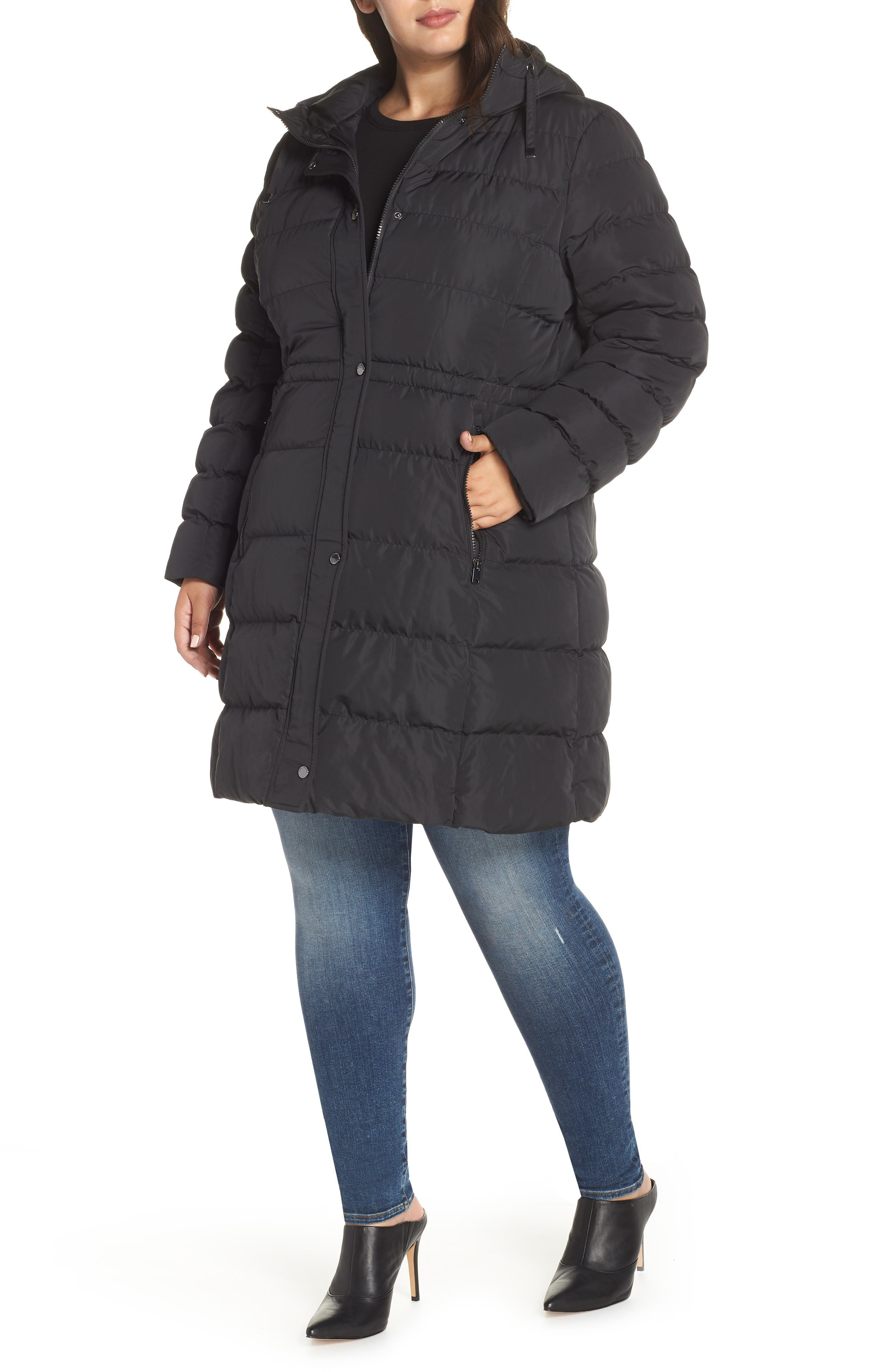 2f0d7f93d45 Plus Size Marc New York Jersey Hooded Parka