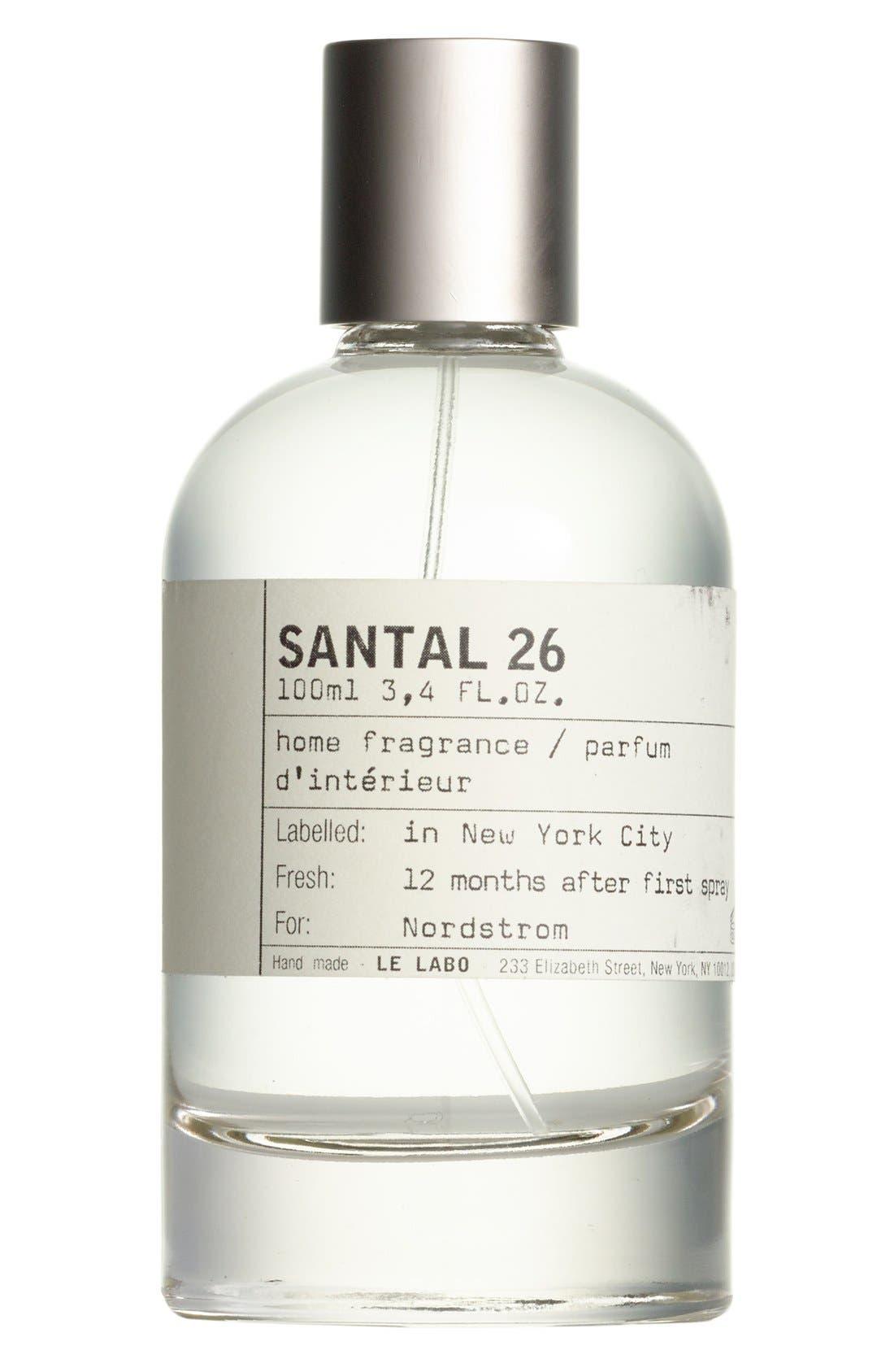 LE LABO, 'Santal 26' Home Fragrance Spray, Main thumbnail 1, color, NO COLOR
