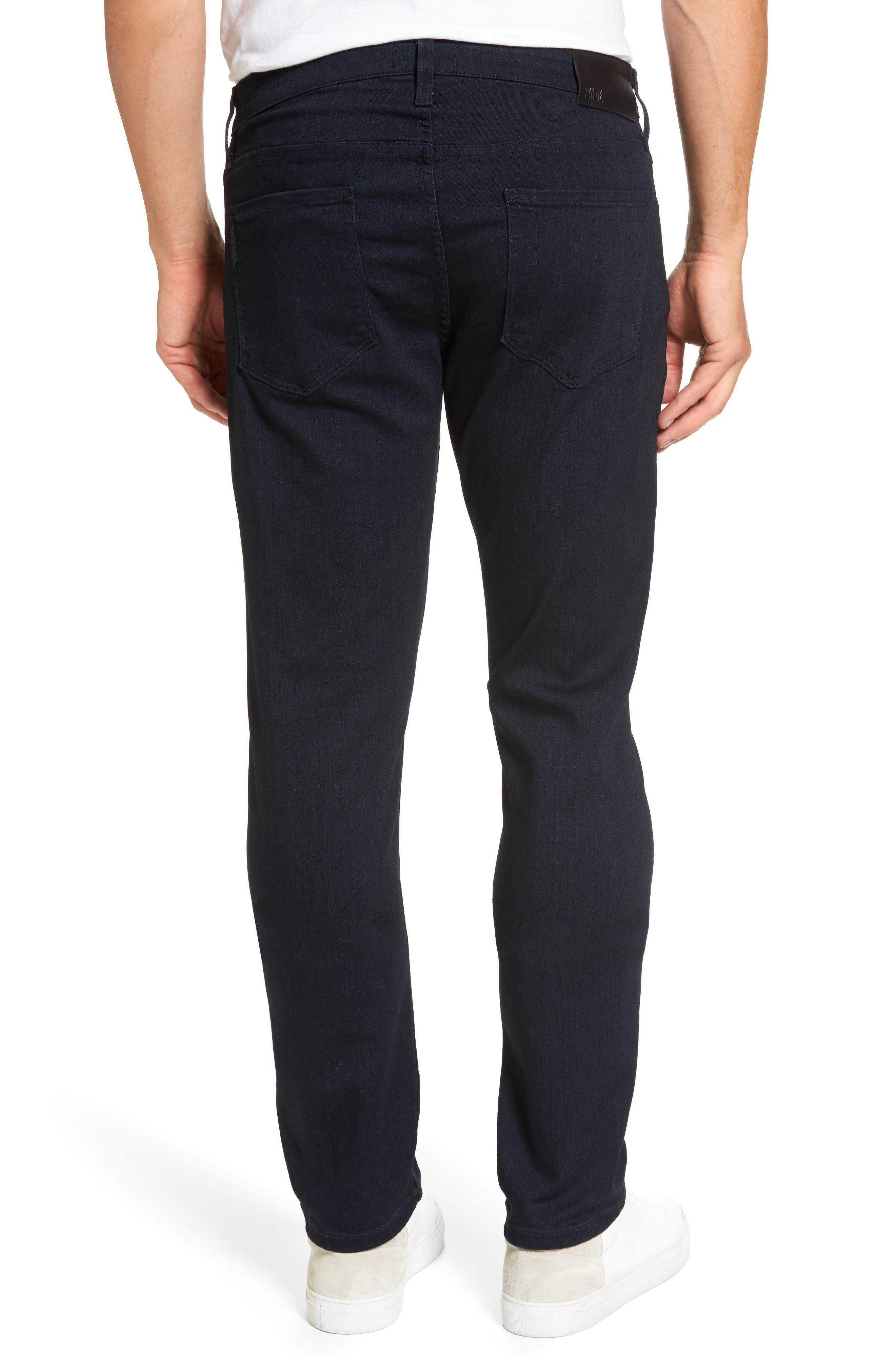 PAIGE, Transcend - Federal Slim Straight Leg Jeans, Alternate thumbnail 2, color, INKWELL