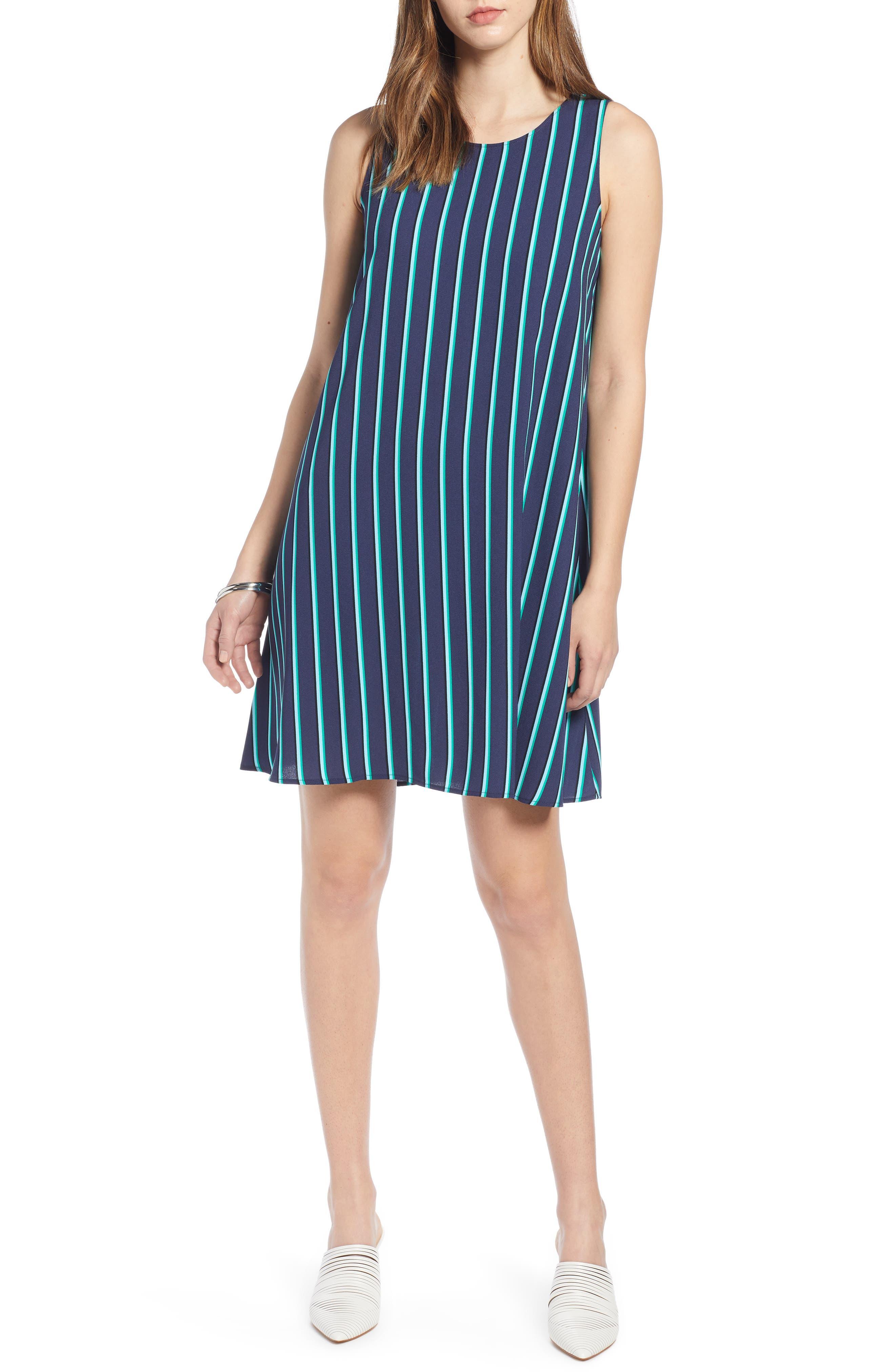 Halogen A-Line Dress, Blue