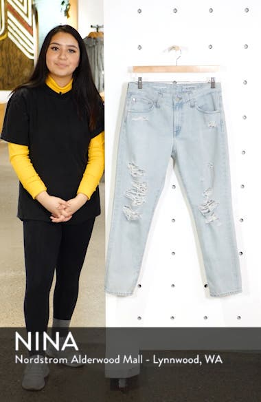 Ex-Boyfriend Ripped Slouchy Ankle Slim Jeans, sales video thumbnail