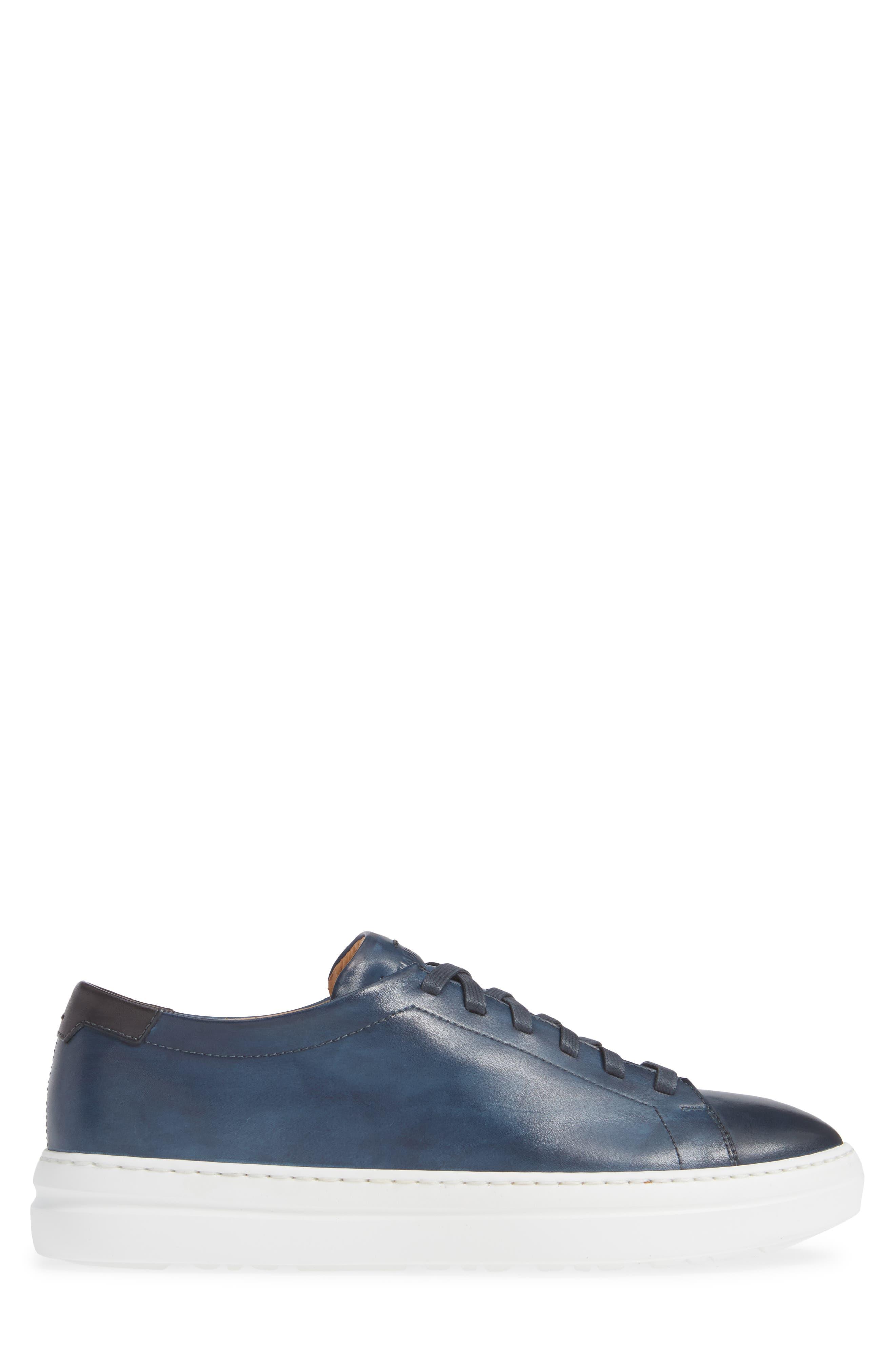 MAGNANNI, Bartolo Sneaker, Alternate thumbnail 3, color, NAVY LEATHER
