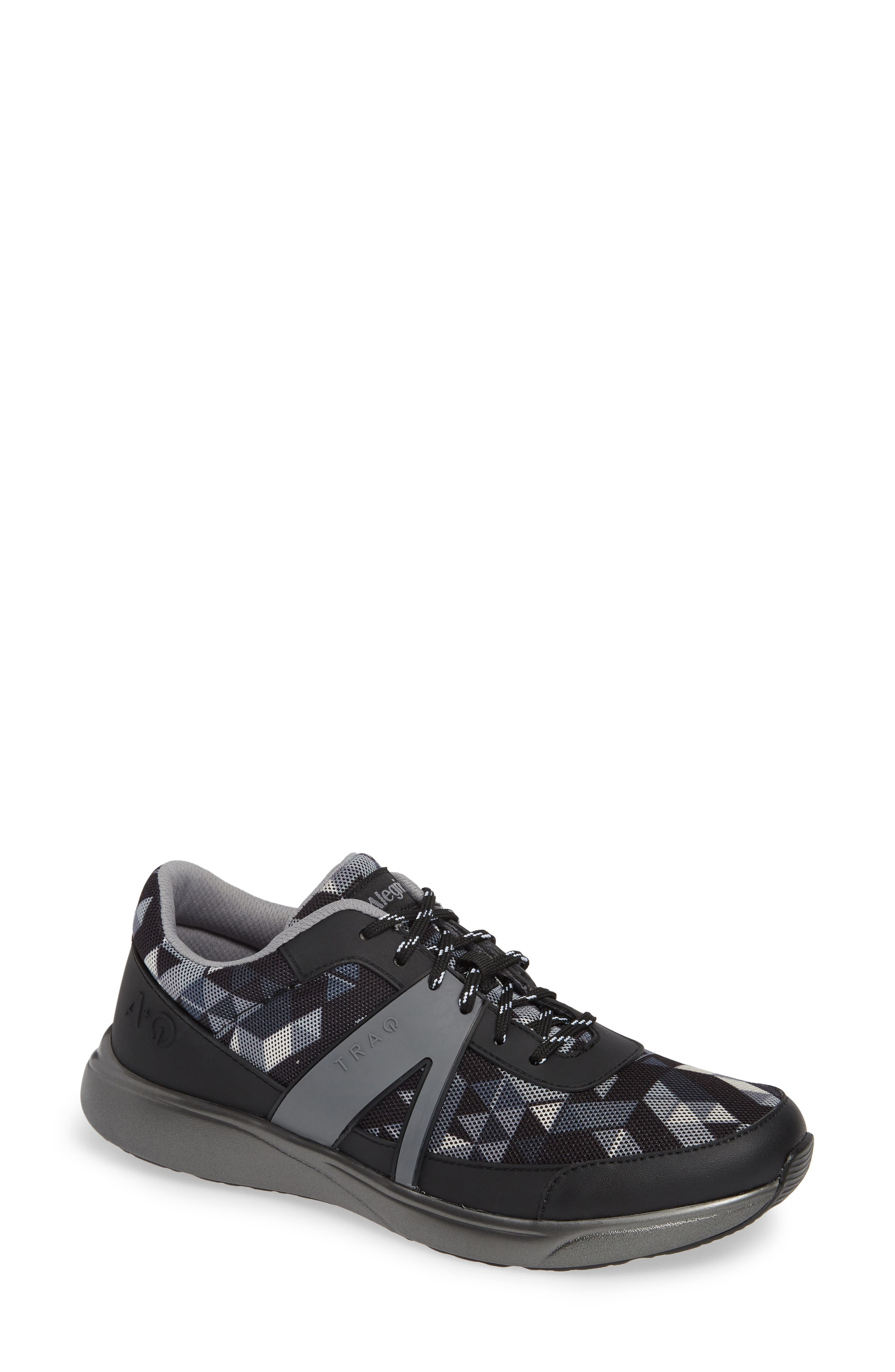 ALEGRIA, Qarma Sneaker, Main thumbnail 1, color, BLACK ANGLE LEATHER