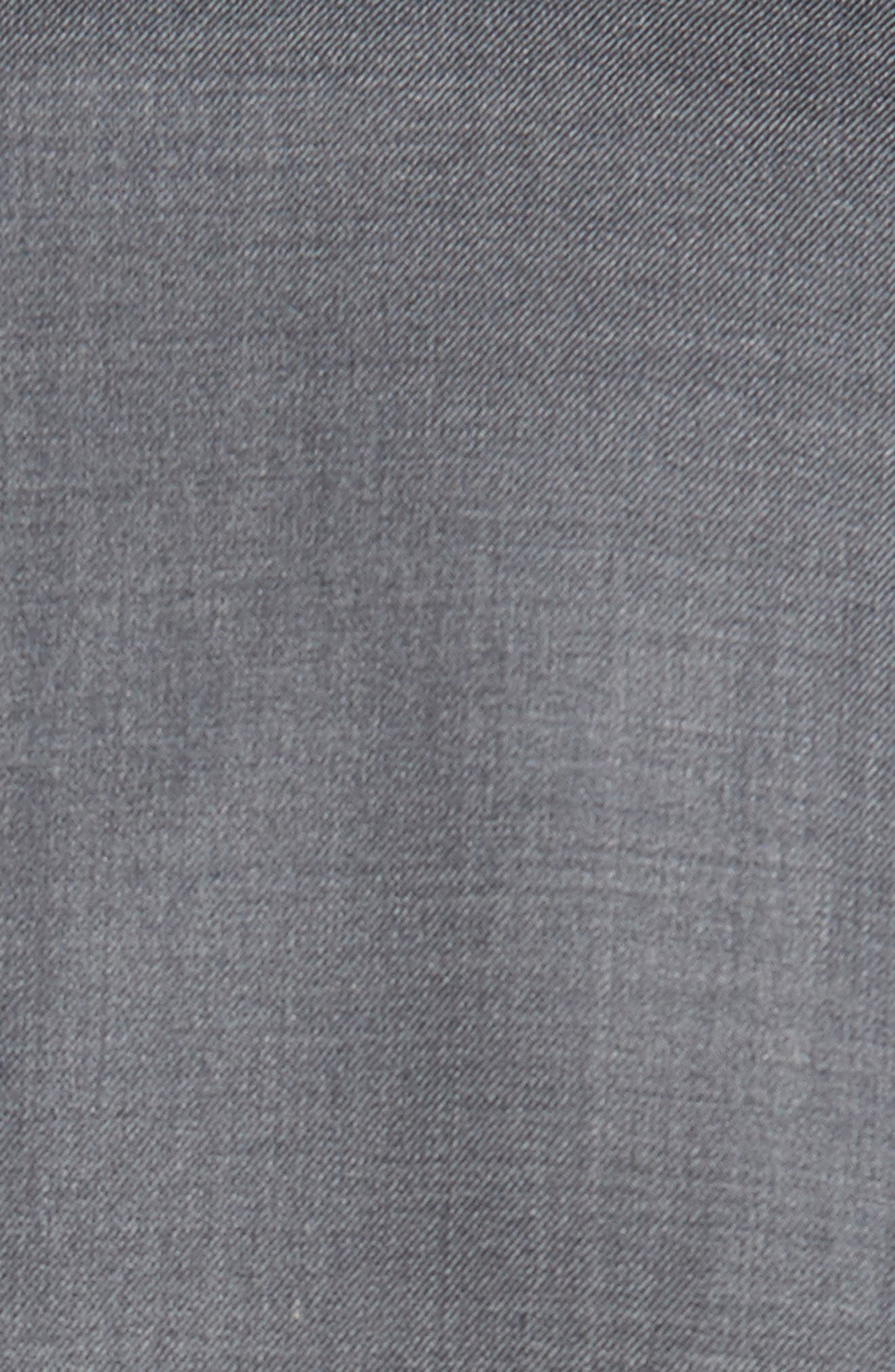 DAVID DONAHUE, Ryan Classic Fit Solid Wool Suit, Alternate thumbnail 7, color, GREY