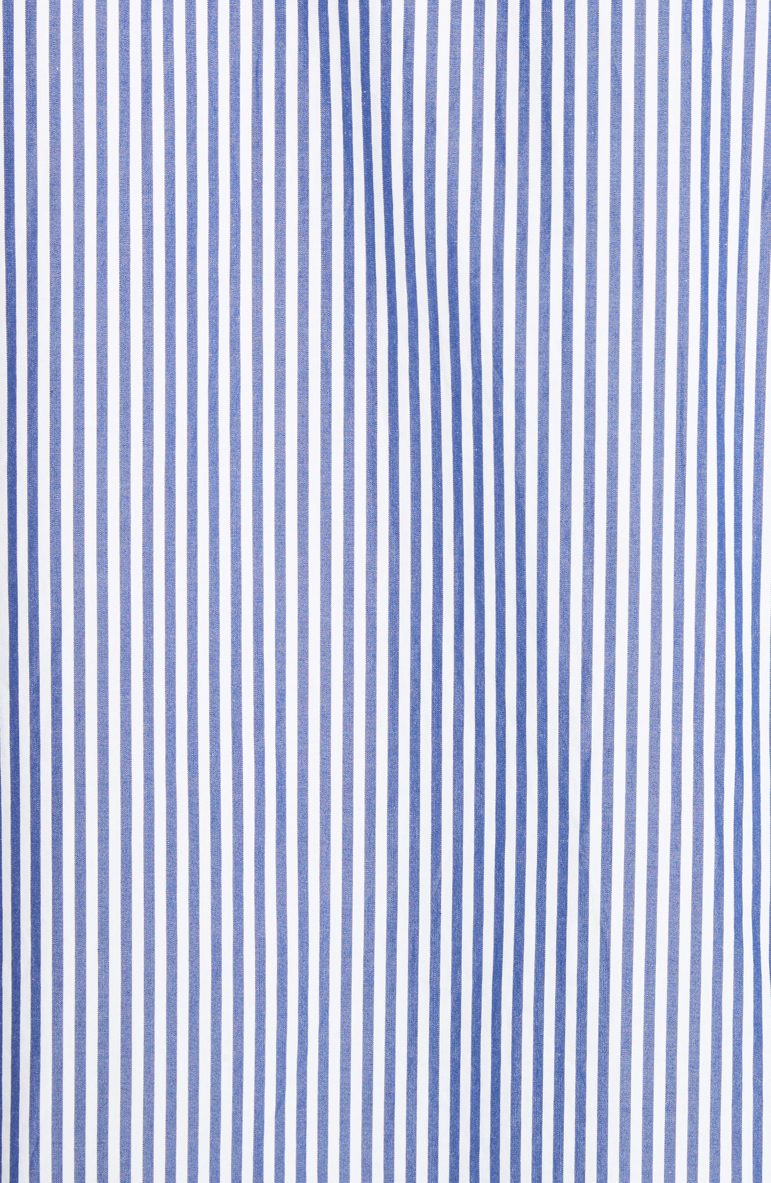 COMME DES GARÇONS PLAY, Stripe Woven Shirt, Alternate thumbnail 5, color, BLUE