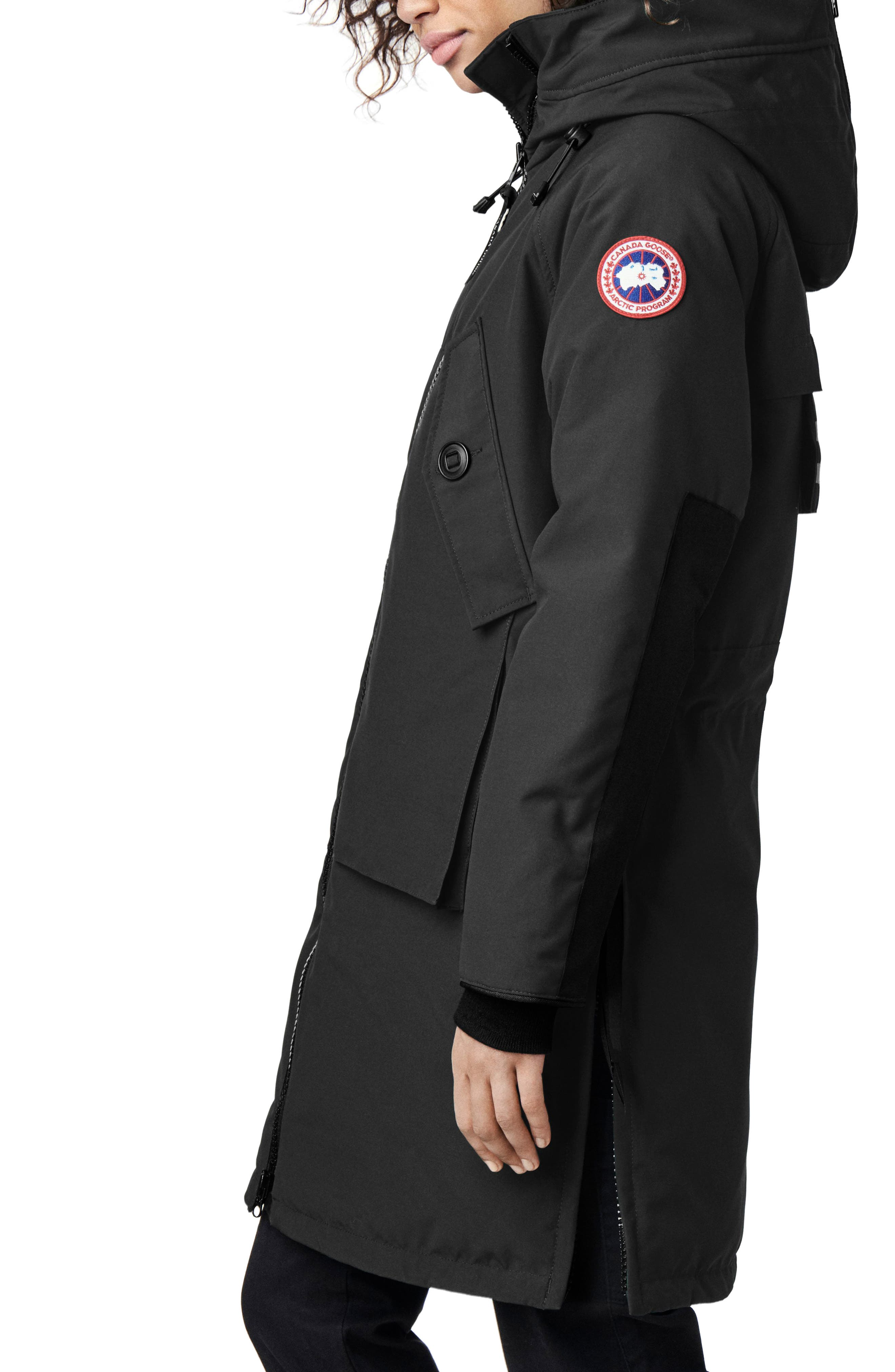 CANADA GOOSE, Olympia Down Parka, Alternate thumbnail 4, color, BLACK