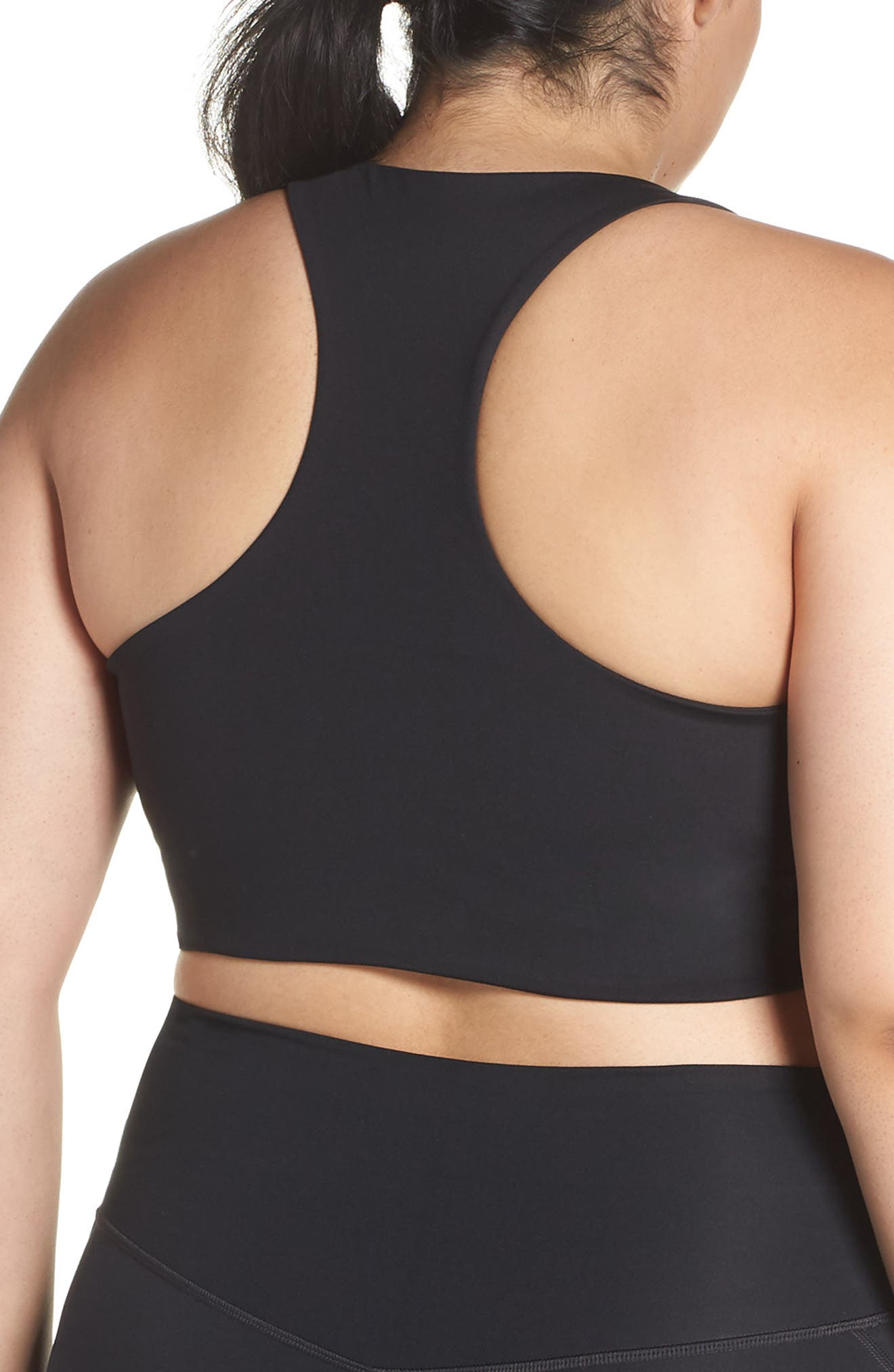 GIRLFRIEND COLLECTIVE, Cropped Paloma Sports Bra, Alternate thumbnail 9, color, 001