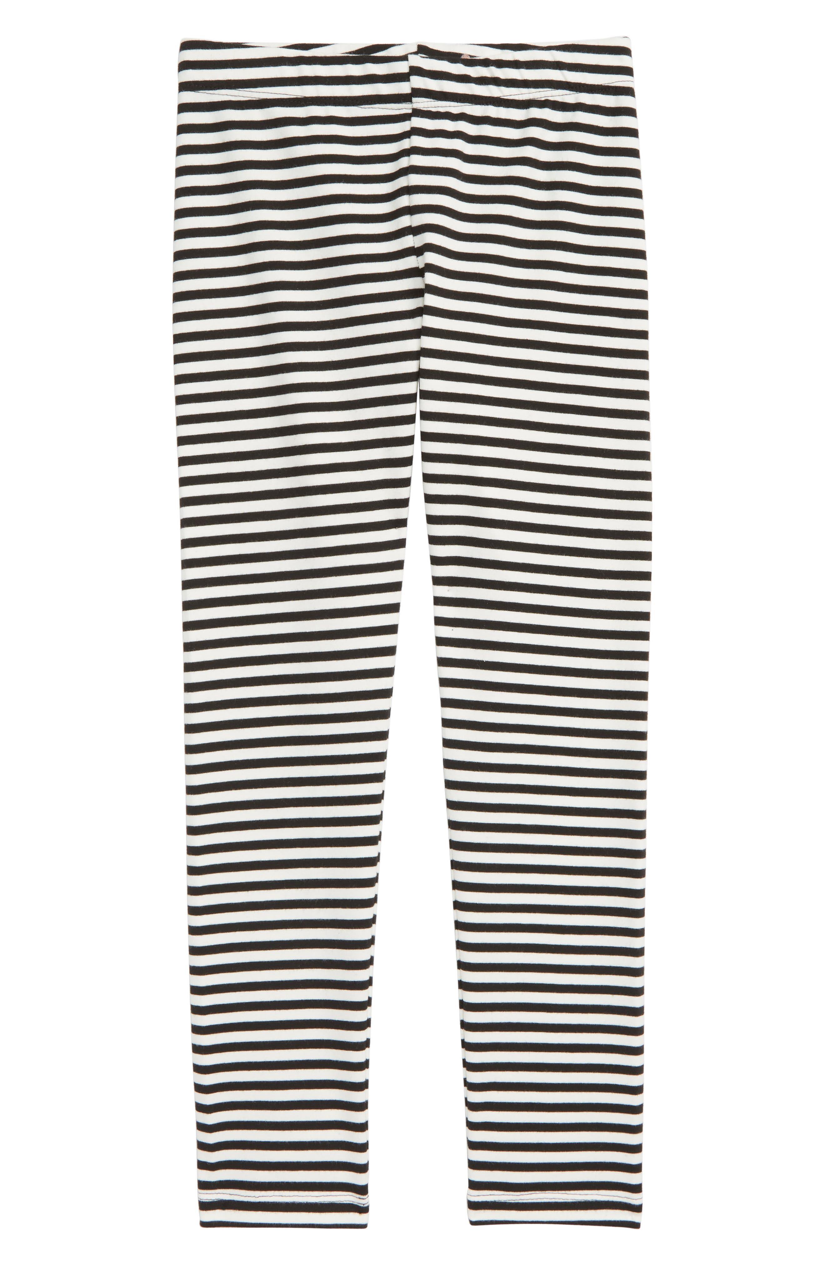 Girls Crewcuts By Jcrew Stripe Leggings Size 12  Black