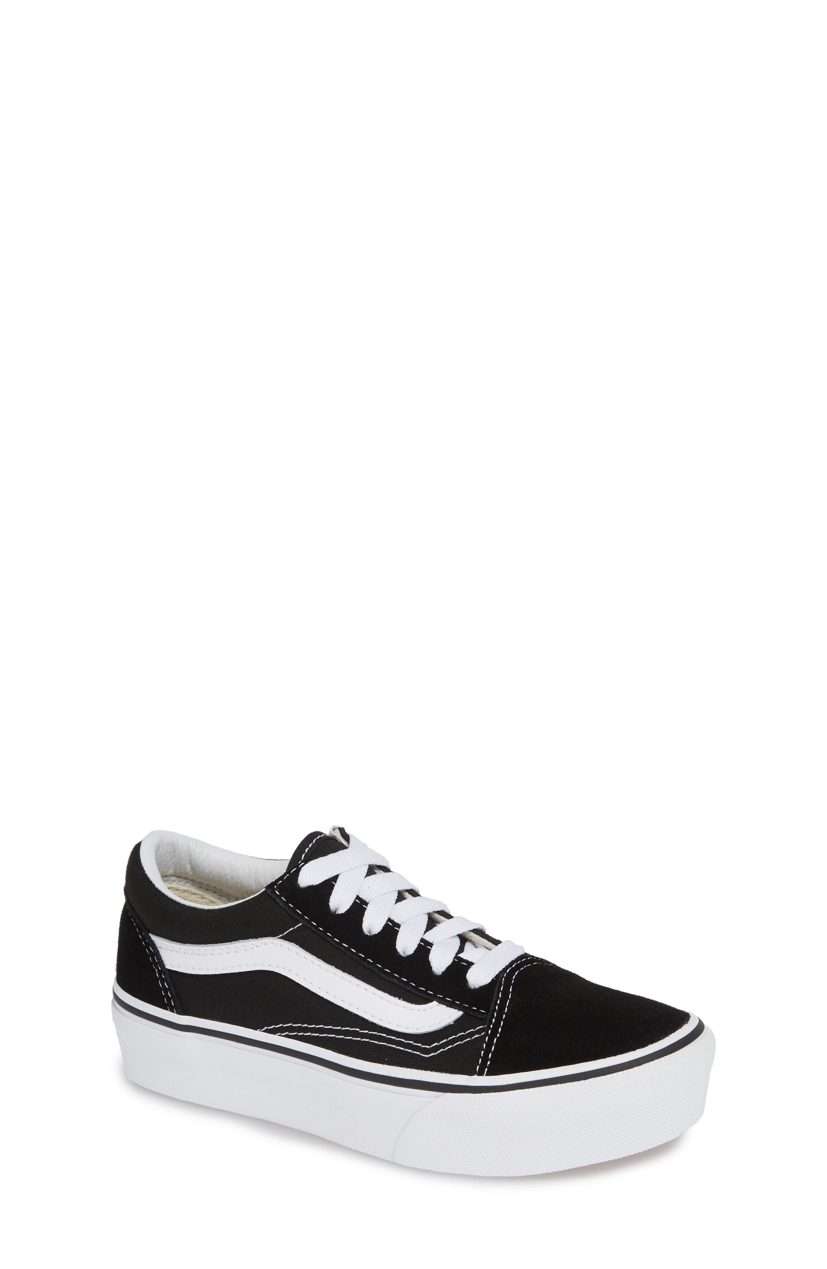 VANS, Old Skool Platform Sneaker, Main thumbnail 1, color, BLACK/ TRUE WHITE