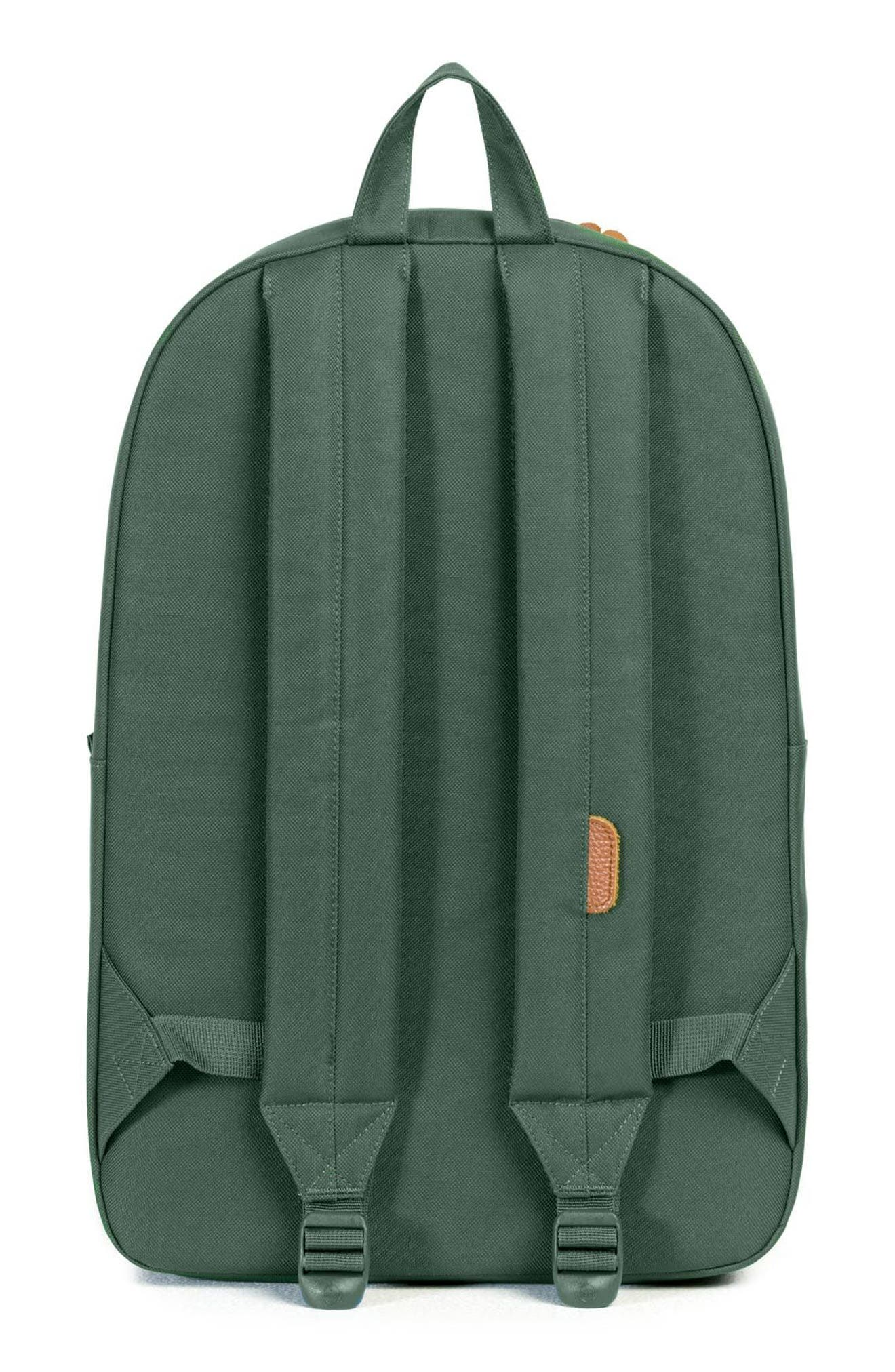 HERSCHEL SUPPLY CO., Heritage - MLB American League Backpack, Alternate thumbnail 2, color, OAKLAND A