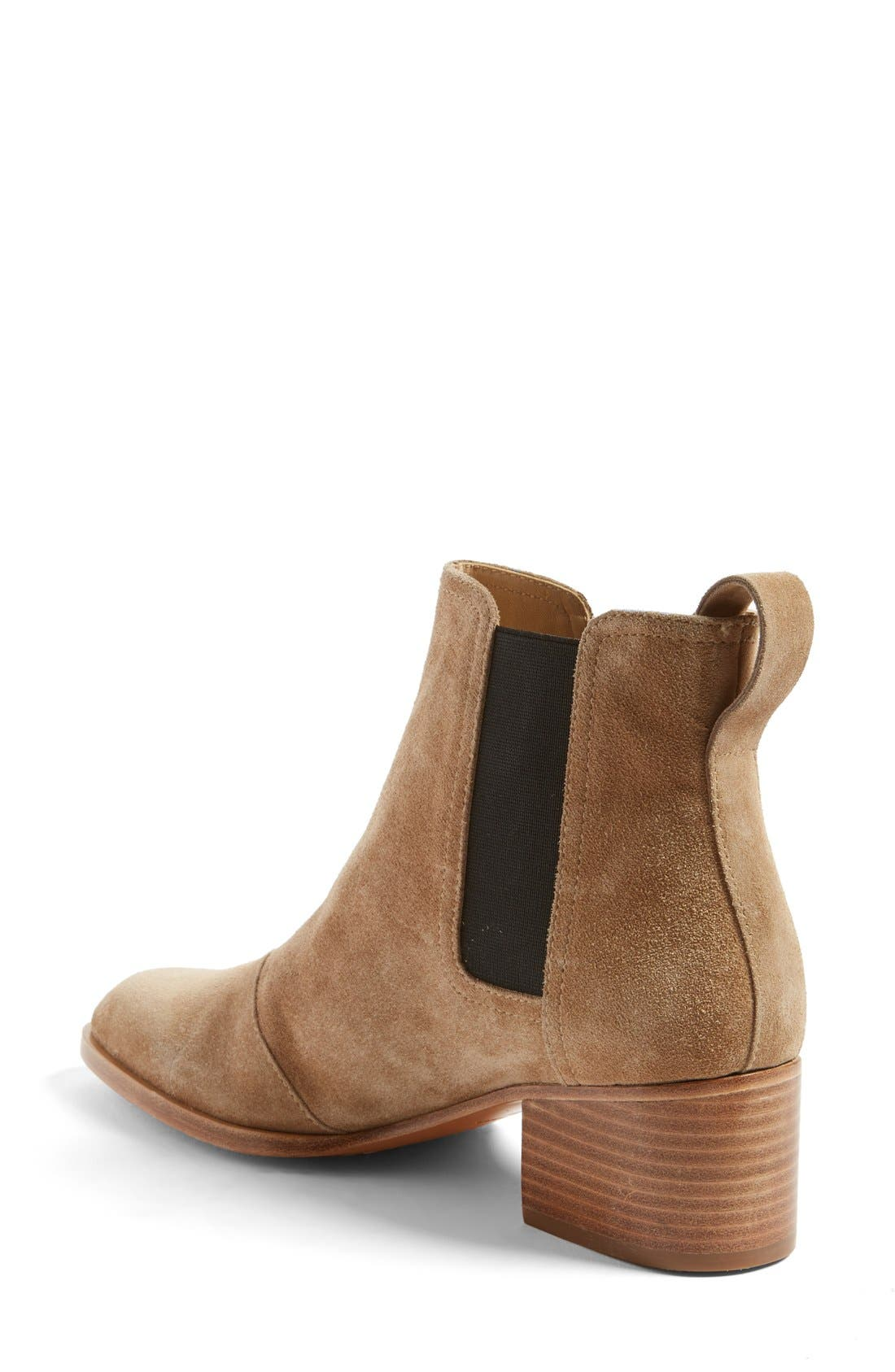 RAG & BONE, 'Walker' Bootie, Alternate thumbnail 4, color, CAMEL SUEDE