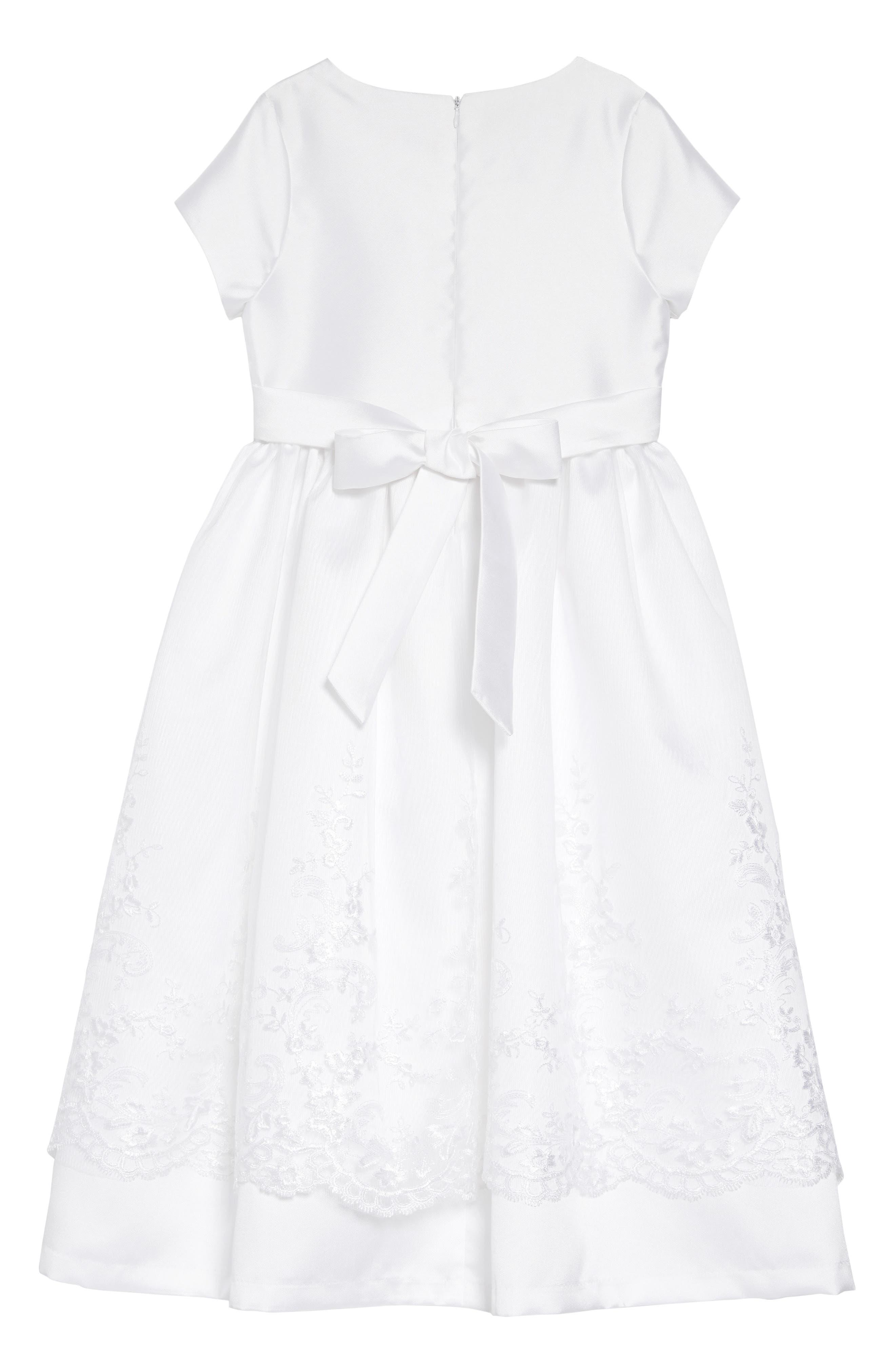 IRIS & IVY, Sweetheart Mikado Dress, Alternate thumbnail 2, color, WHITE