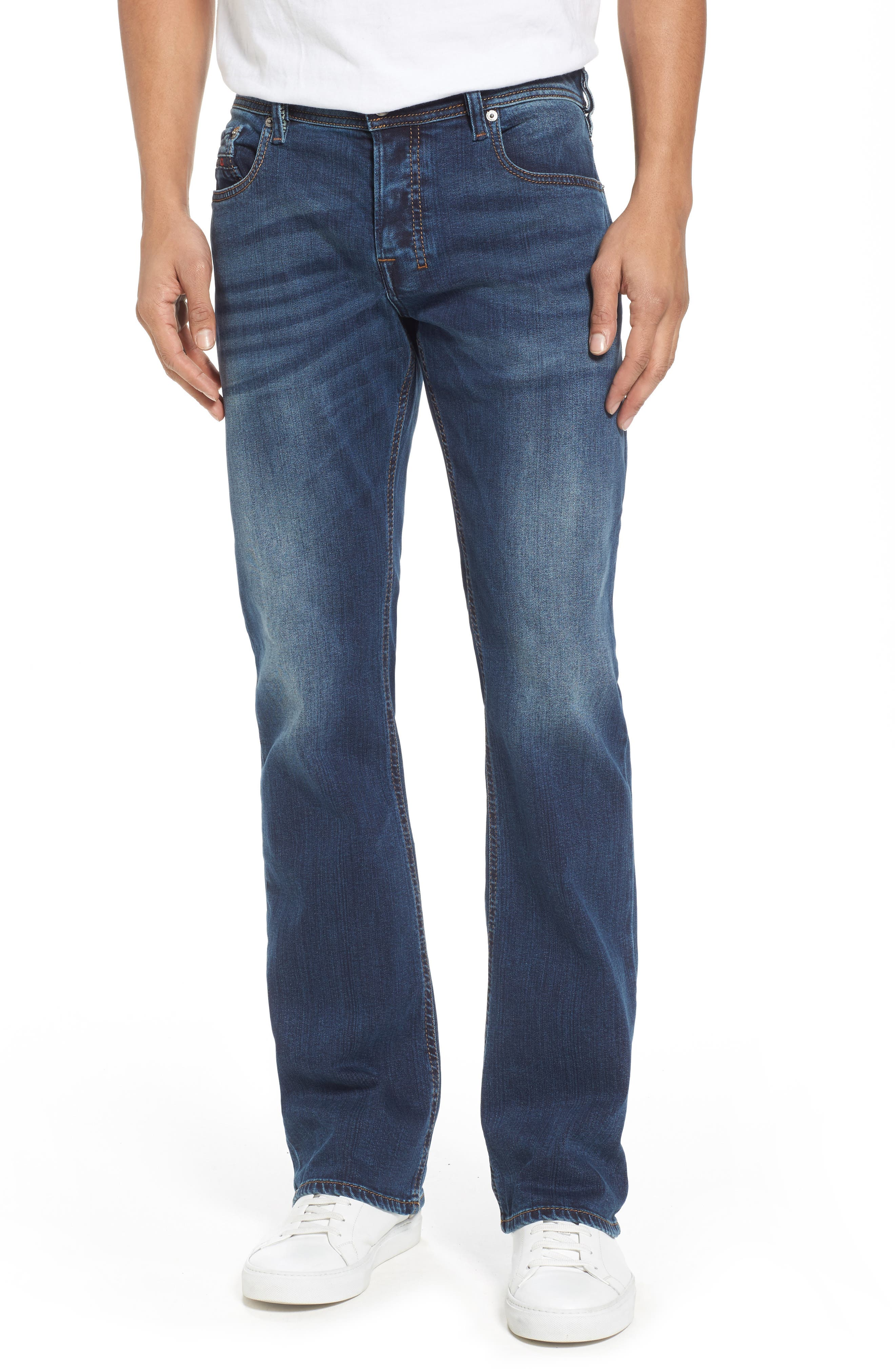 DIESEL<SUP>®</SUP>, Zatiny Bootcut Jeans, Main thumbnail 1, color, 084BU