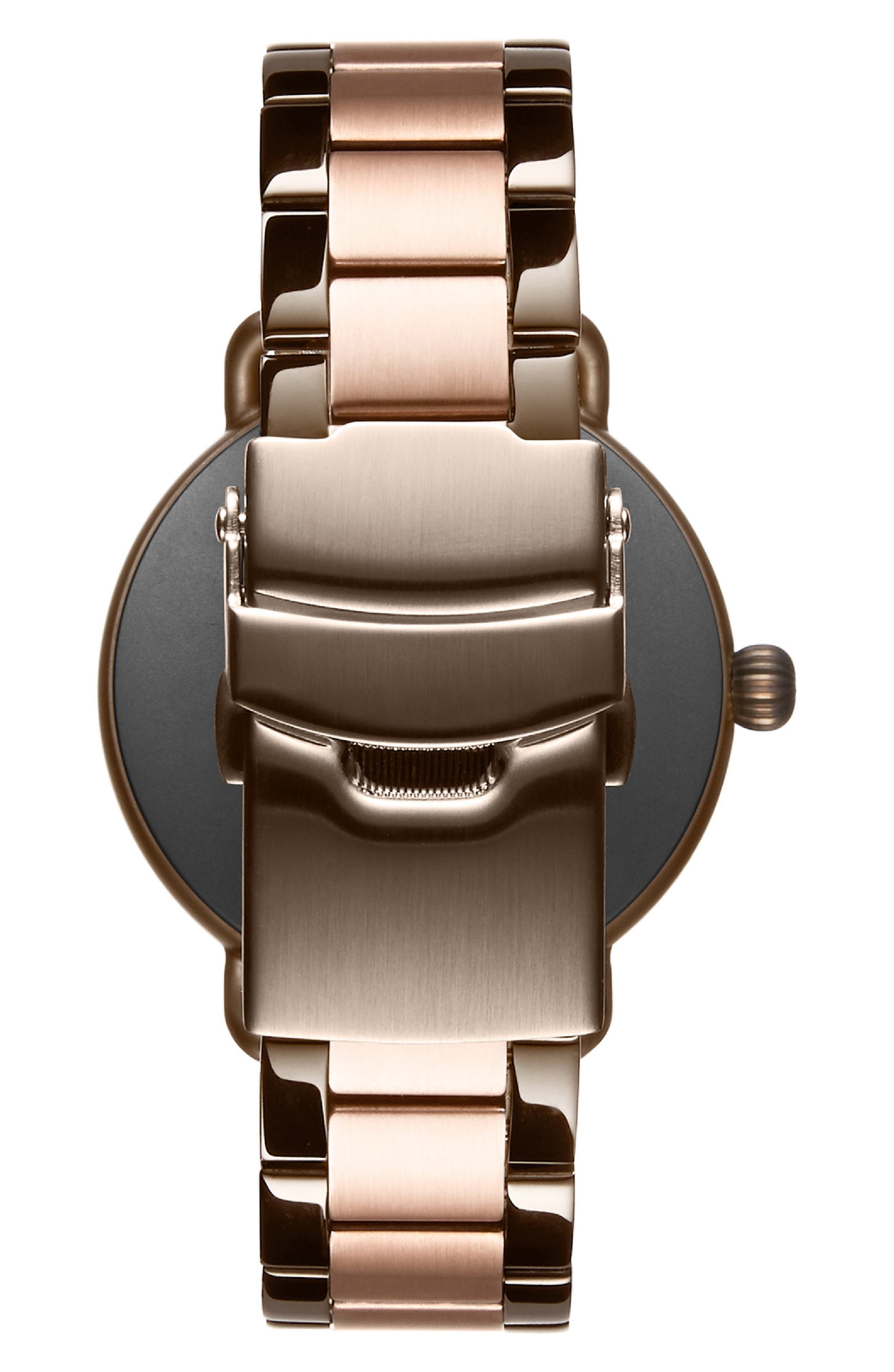 MVMT, Bloom Bracelet Watch, 36mm, Alternate thumbnail 2, color, ROSE GOLD/ GUNMETAL