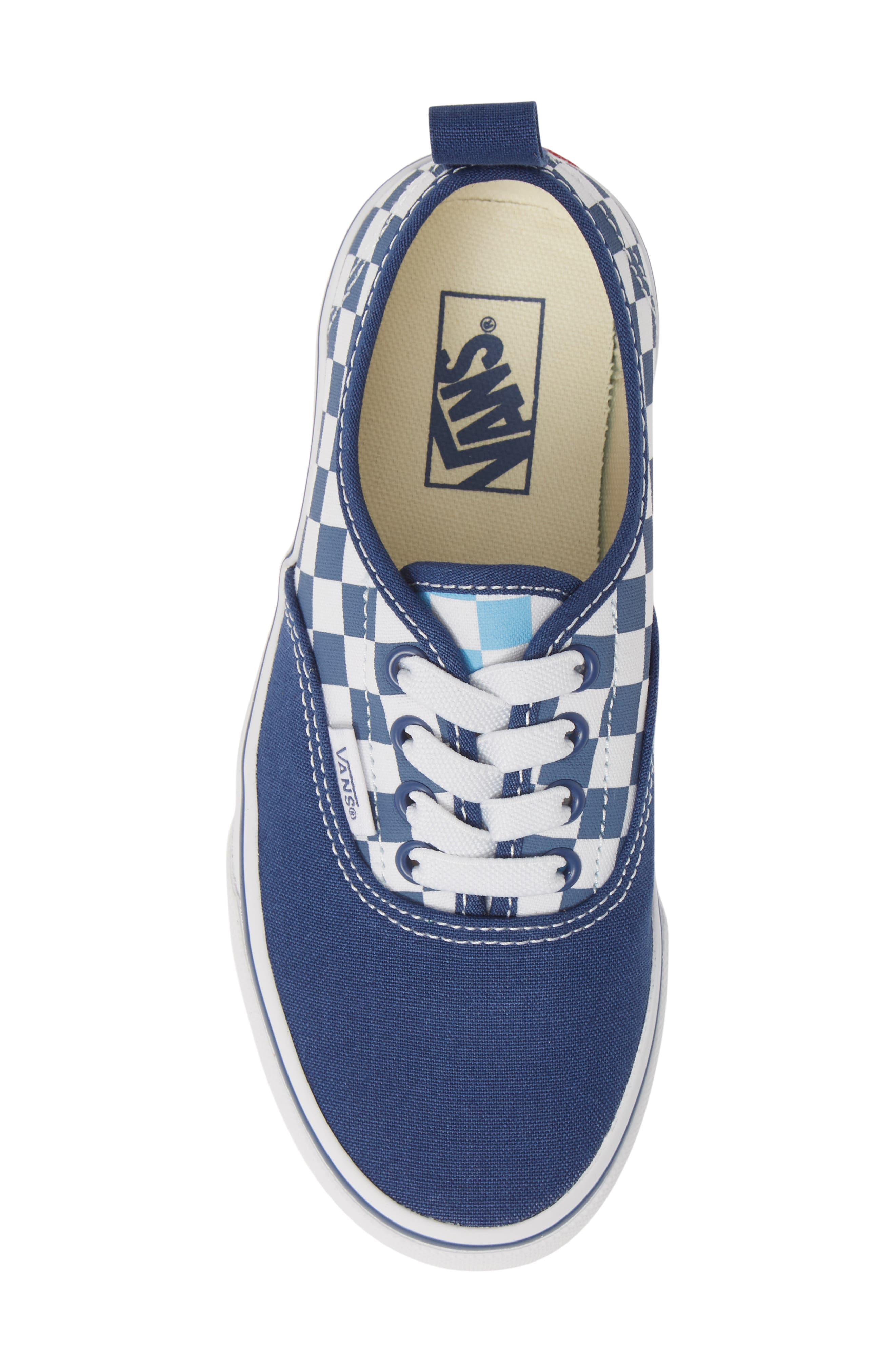 VANS, Authentic Elastic Lace Sneaker, Alternate thumbnail 5, color, TRUE NAVY/ BONNIE BLUE