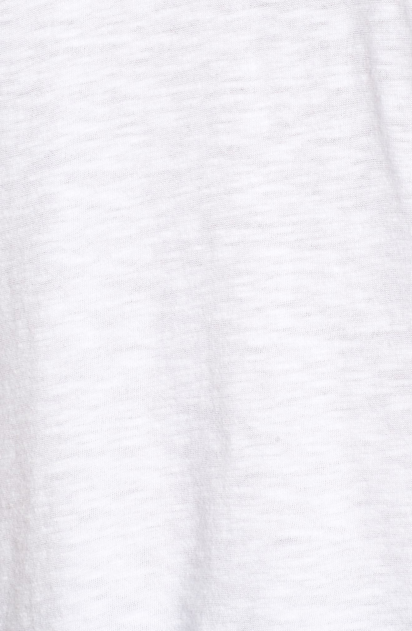 CASLON<SUP>®</SUP>, Rounded V-Neck Tee, Alternate thumbnail 6, color, WHITE