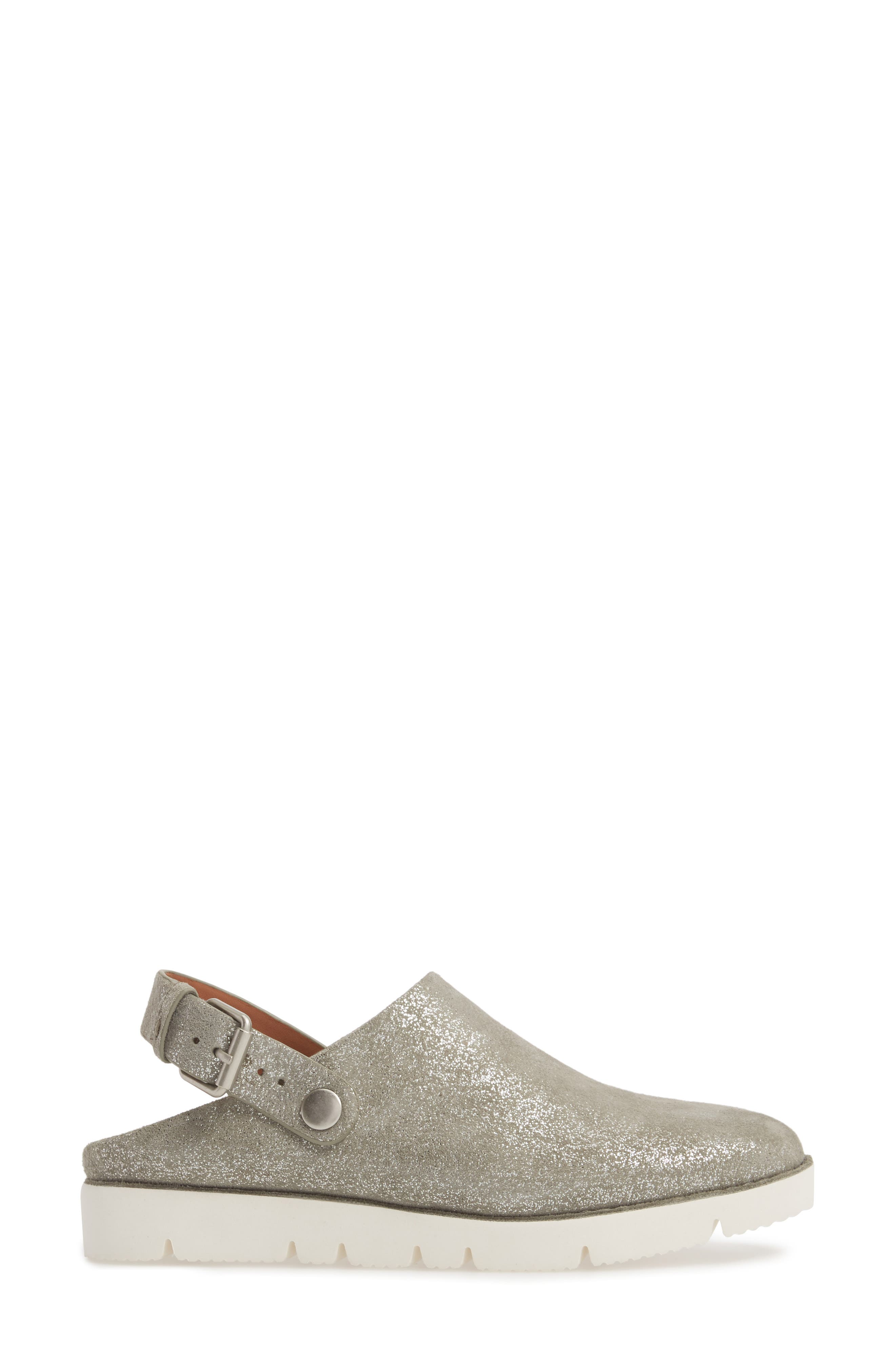 GENTLE SOULS BY KENNETH COLE, Esther Convertible Wedge, Alternate thumbnail 3, color, LIGHT PEWTER METALLIC LEATHER