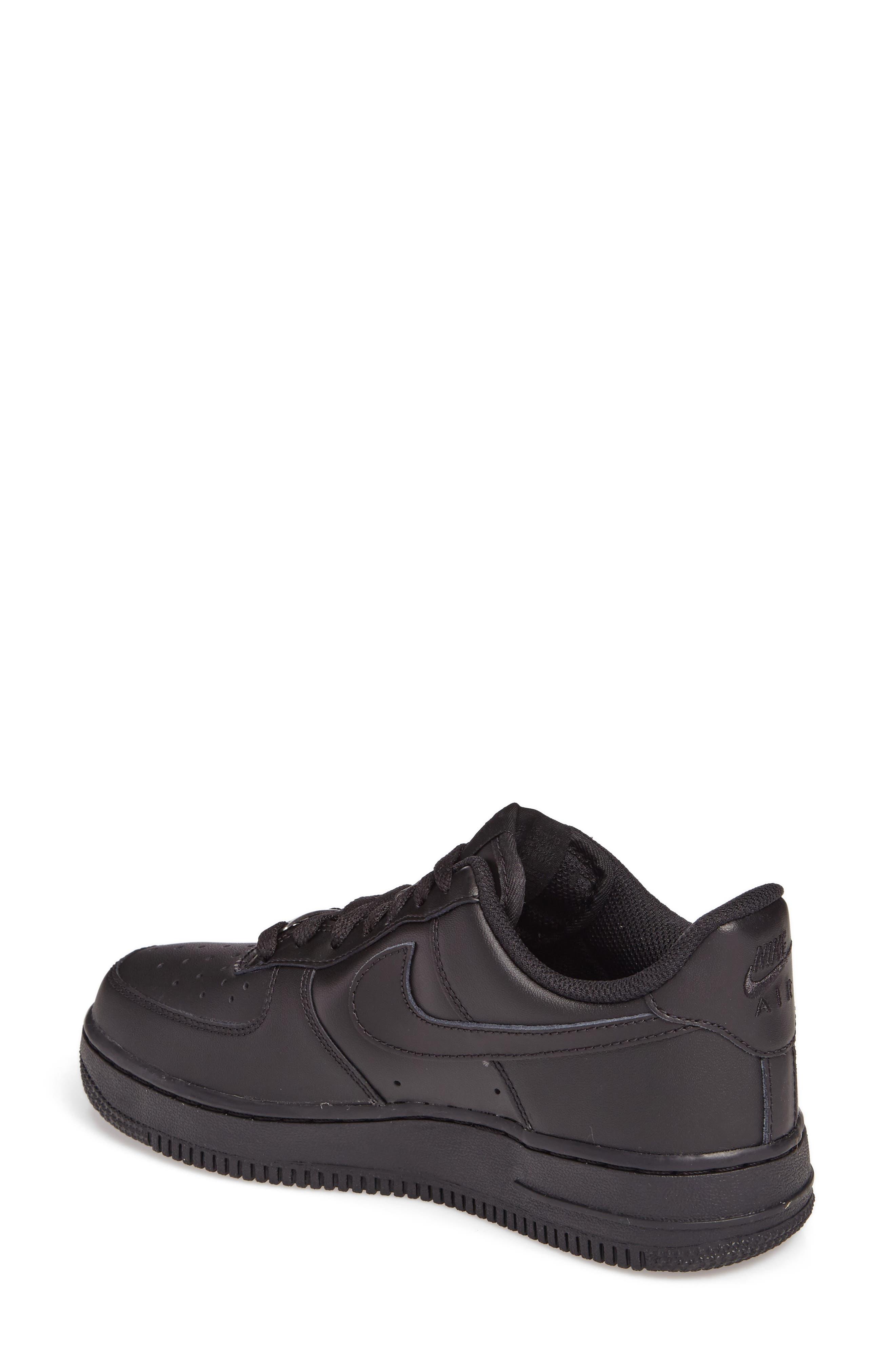 NIKE, 'Air Force 1' Basketball Sneaker, Alternate thumbnail 2, color, BLACK/ BLACK