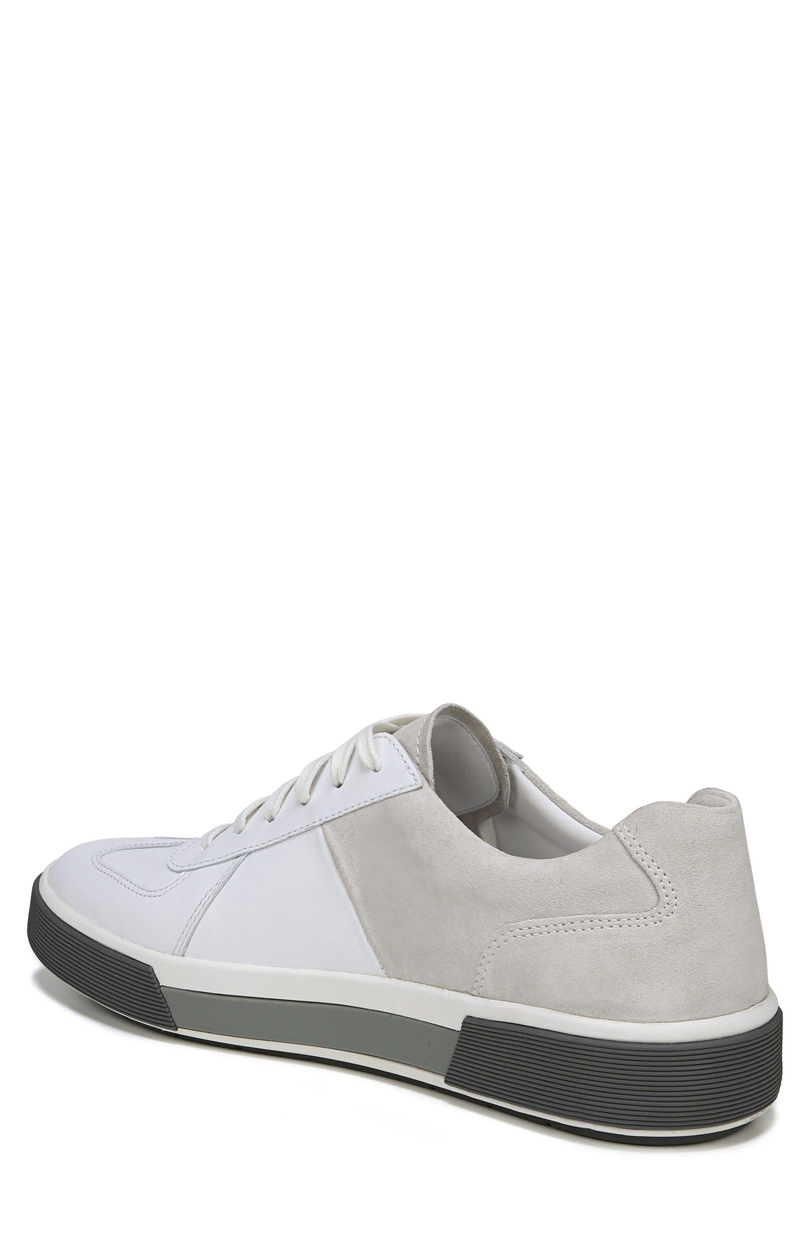 VINCE, Rogue Low Top Sneaker, Alternate thumbnail 2, color, WHITE/ HORCHATA