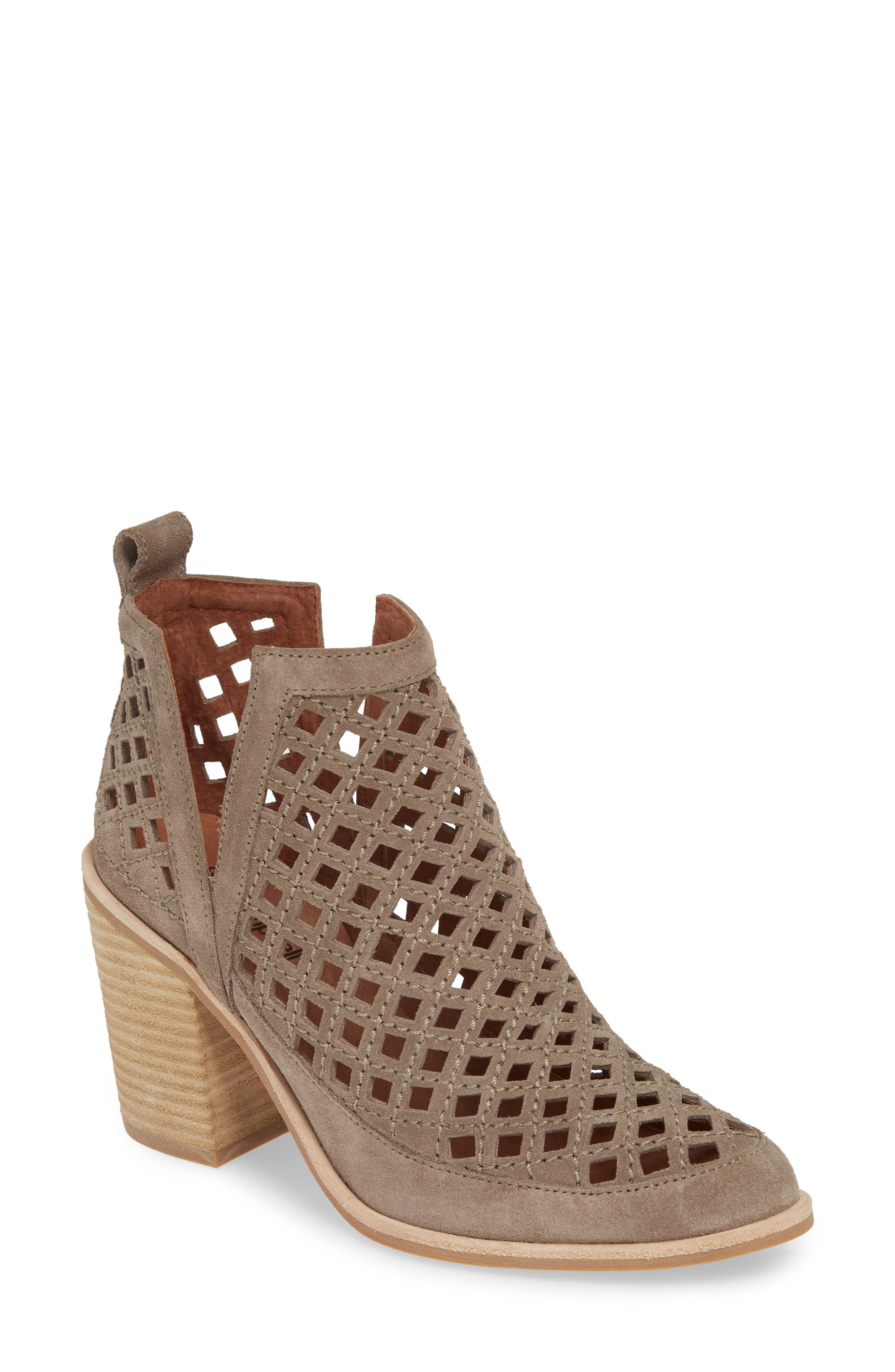 JEFFREY CAMPBELL, Kamet Bootie, Main thumbnail 1, color, TAUPE SUEDE