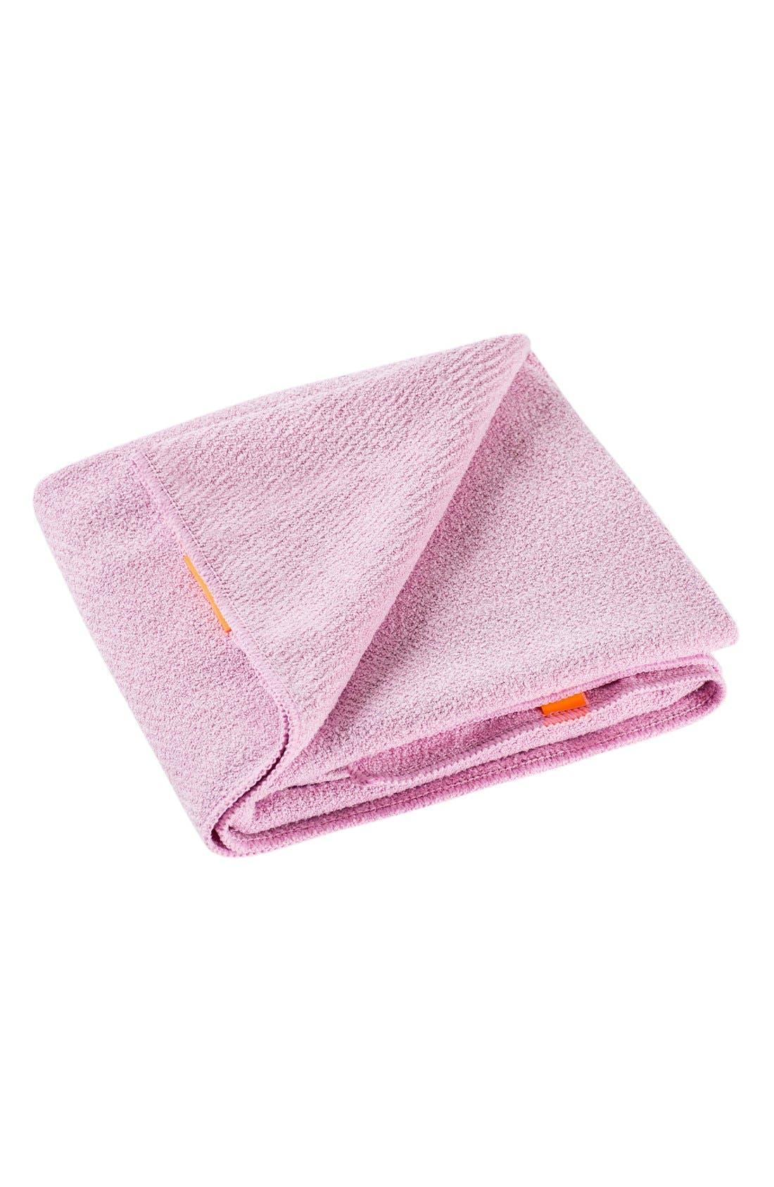 AQUIS, Lisse Luxe Desert Rose Hair Towel, Main thumbnail 1, color, DESERT ROSE