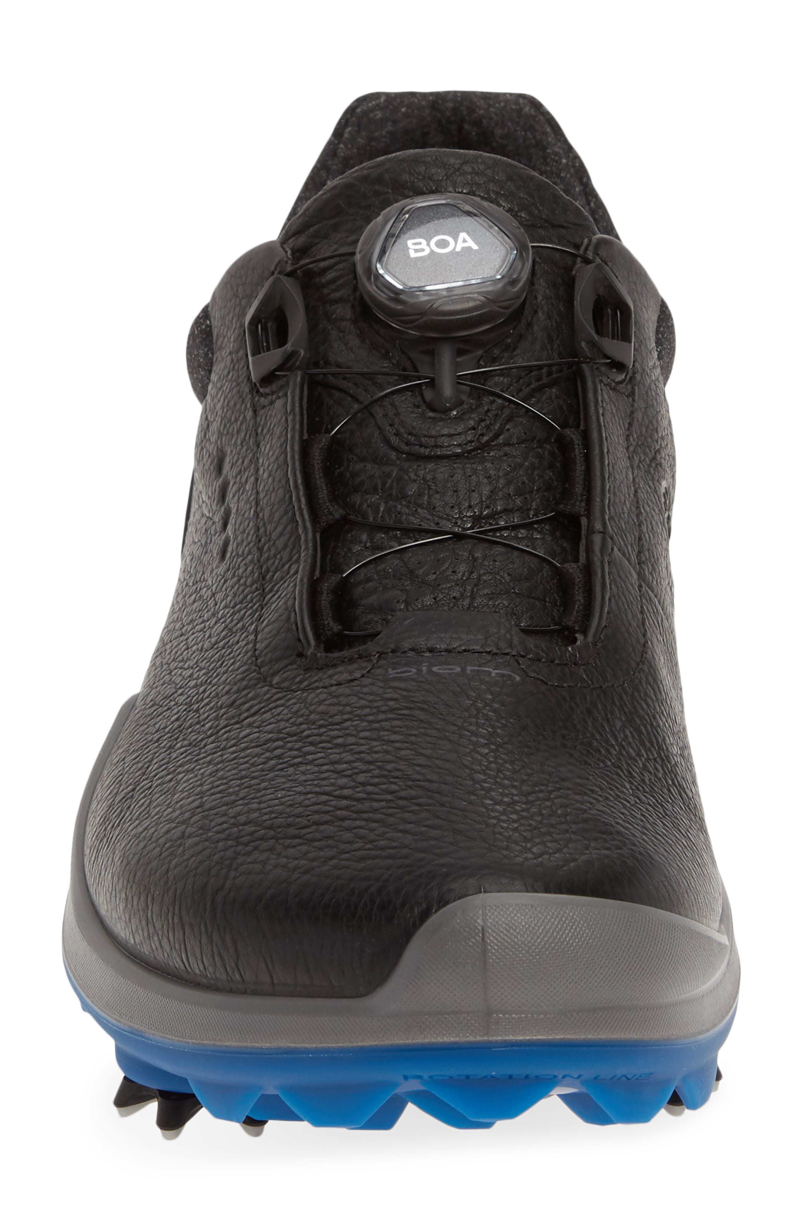 ECCO, BIOM<sup>®</sup> G 3 BOA<sup>®</sup> Gore-Tex<sup>®</sup> Golf Shoe, Alternate thumbnail 4, color, BLACK LEATHER