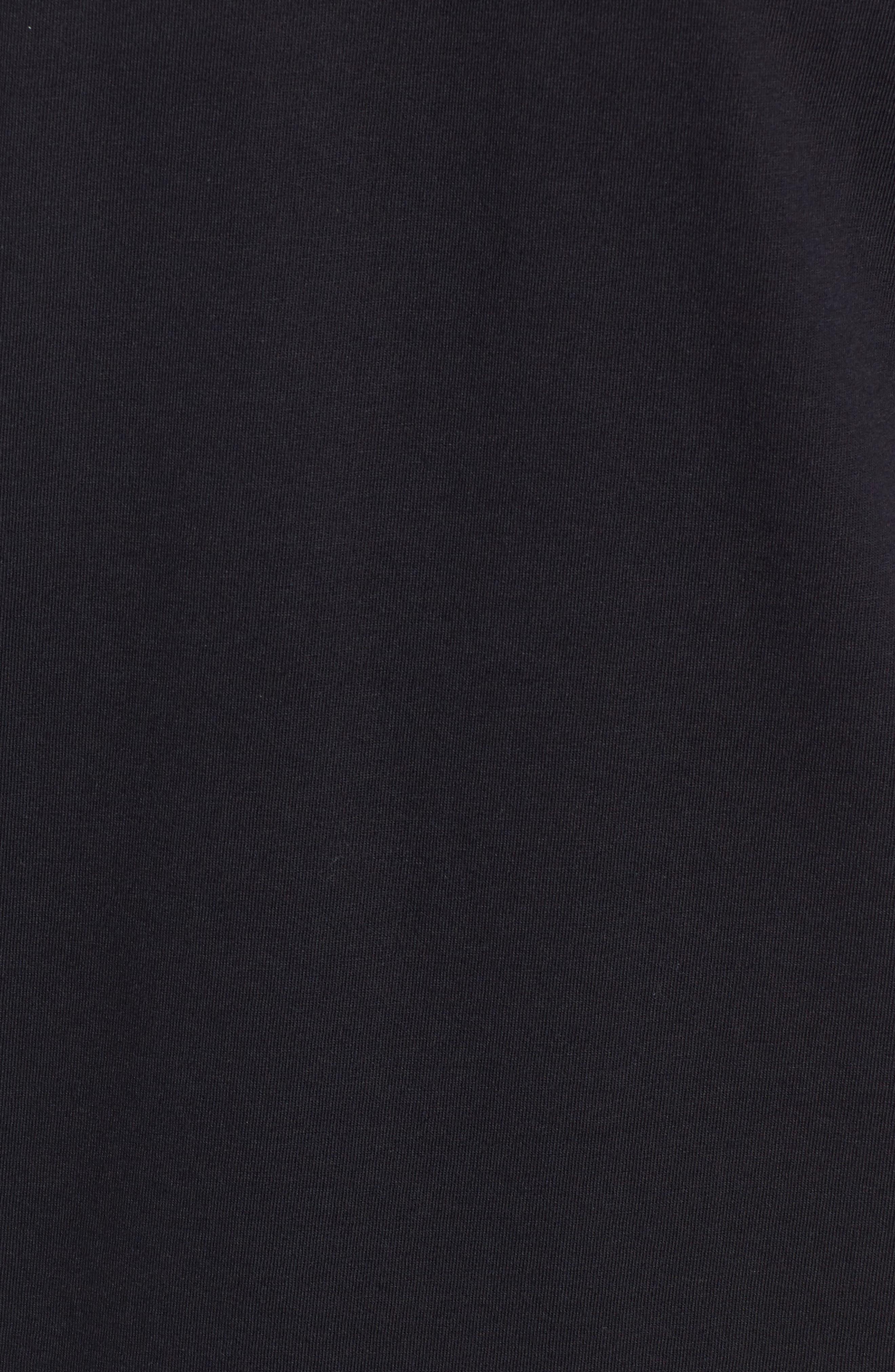HANRO, Living Long Sleeve T-Shirt, Alternate thumbnail 5, color, BLACK