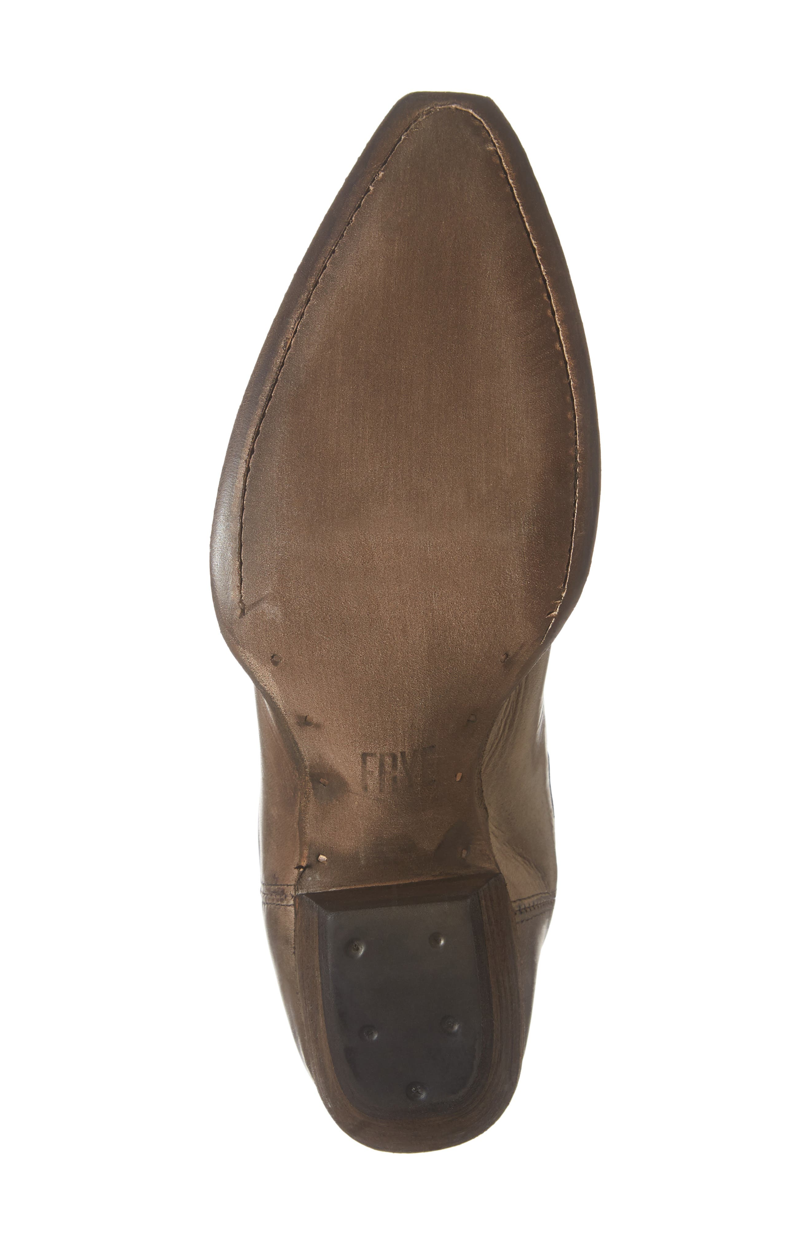 FRYE, Sacha Western Bootie, Alternate thumbnail 6, color, STONE LEATHER