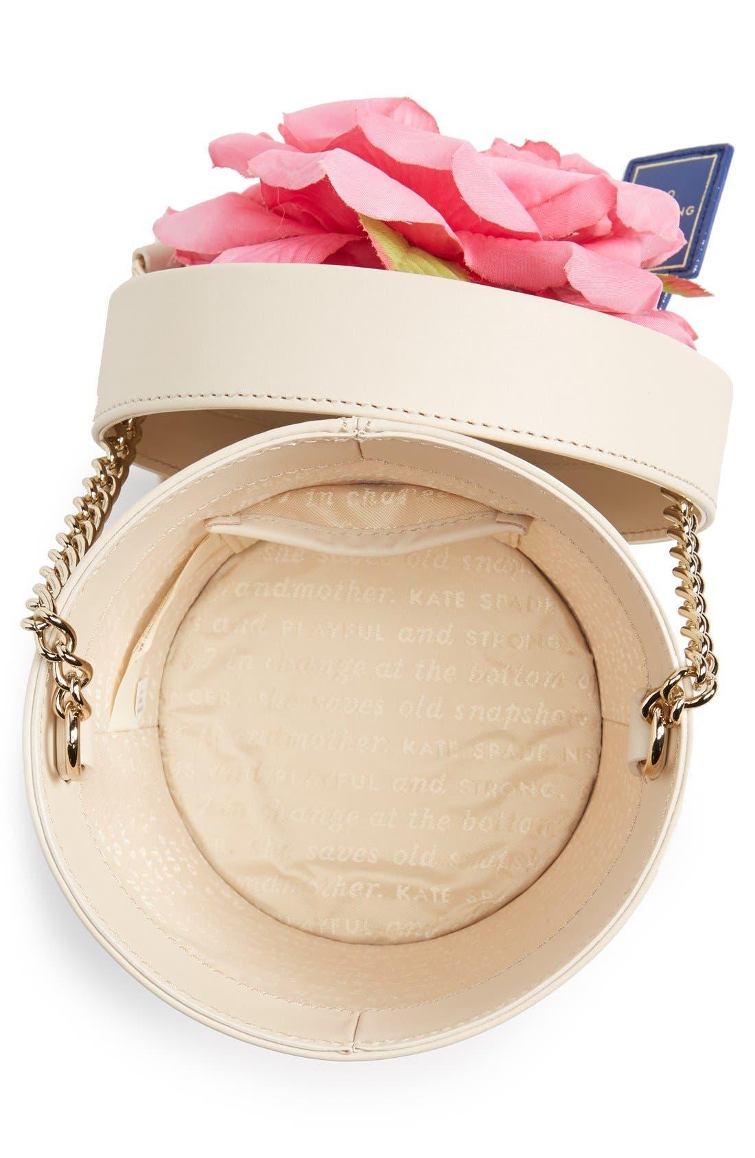 KATE SPADE NEW YORK, 'spring forward - flowerpot' crossbody bag, Alternate thumbnail 6, color, 100