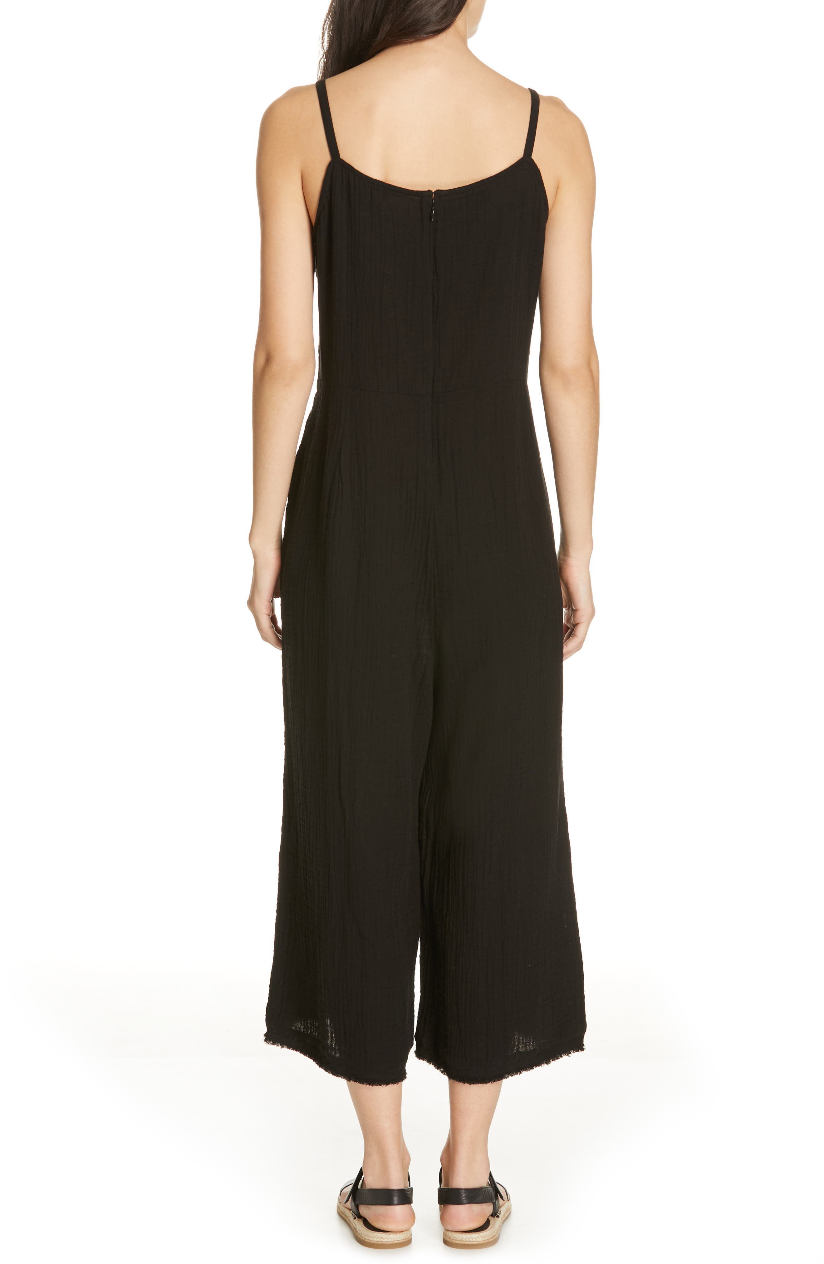 EILEEN FISHER, Camisole Jumpsuit, Alternate thumbnail 2, color, 001