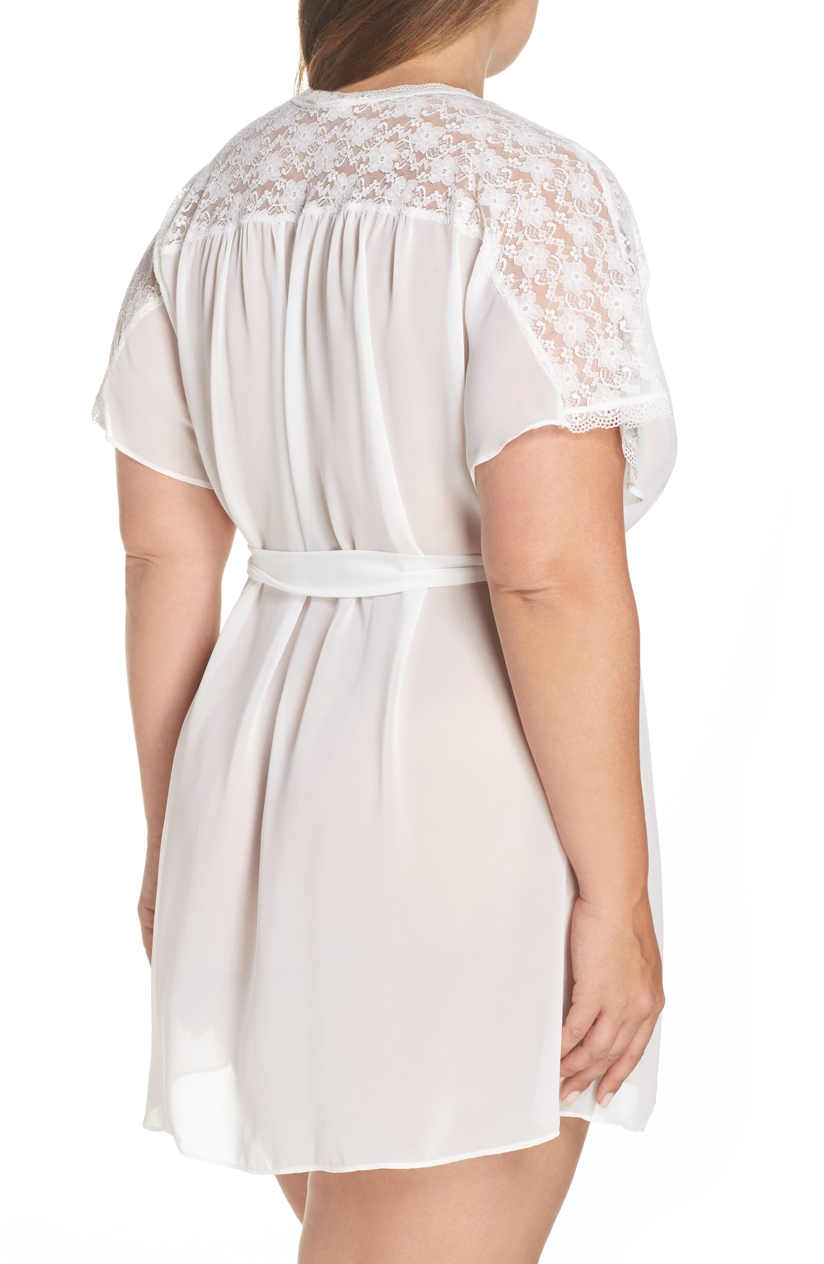 IN BLOOM BY JONQUIL, Chiffon Robe, Alternate thumbnail 2, color, IVORY