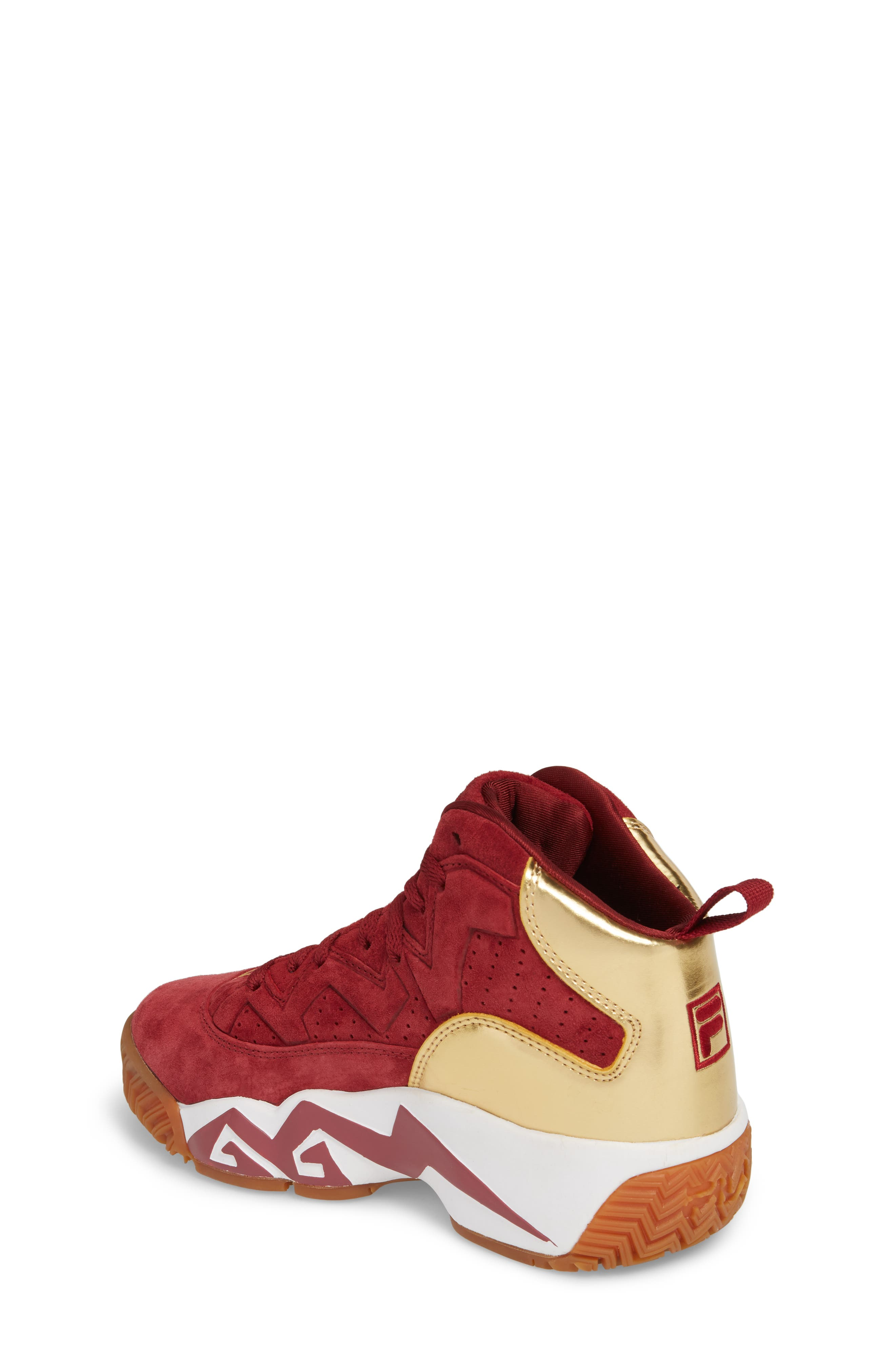 FILA, Heritage Sneaker, Alternate thumbnail 2, color, BIKING RED/ GOLD/ WHITE
