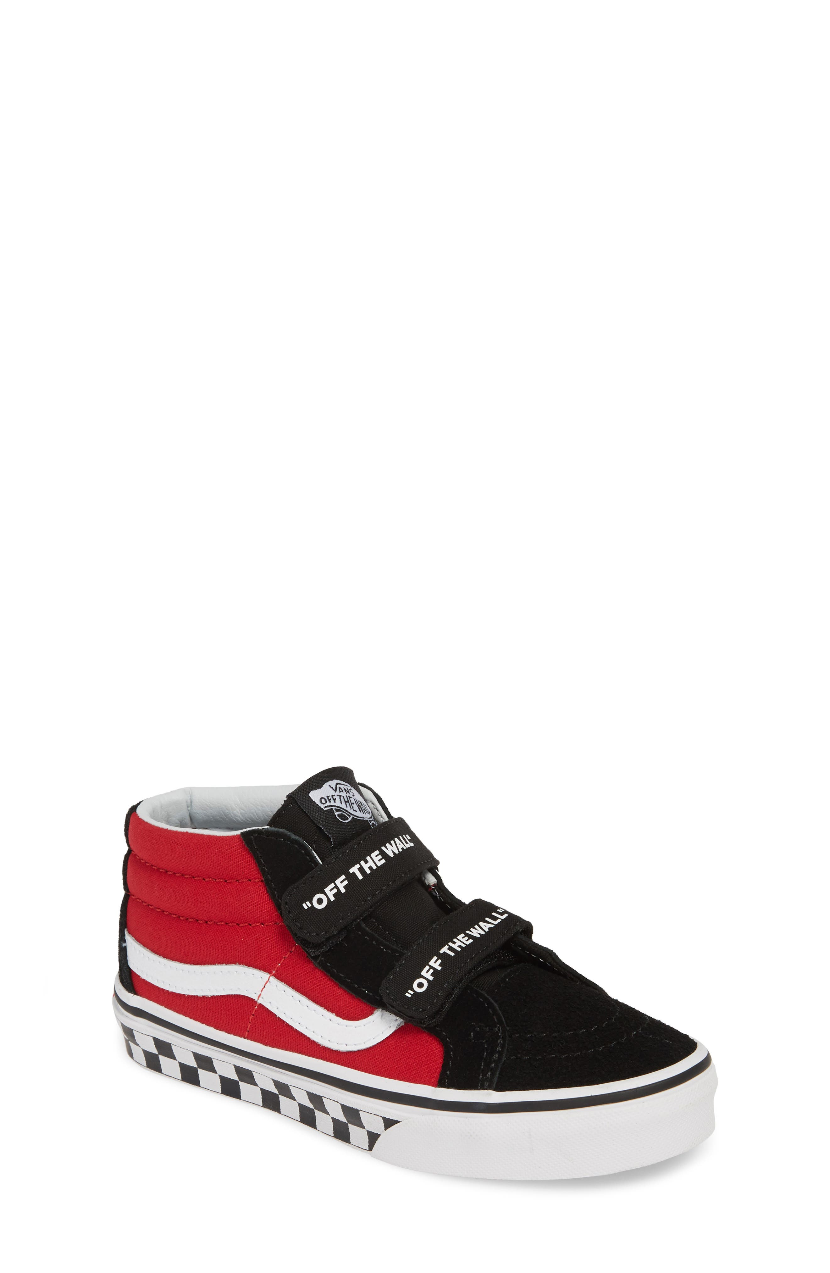 VANS, Sk8-Mid Reissue V Sneaker, Main thumbnail 1, color, LOGO POP BLACK/ TRUE WHITE