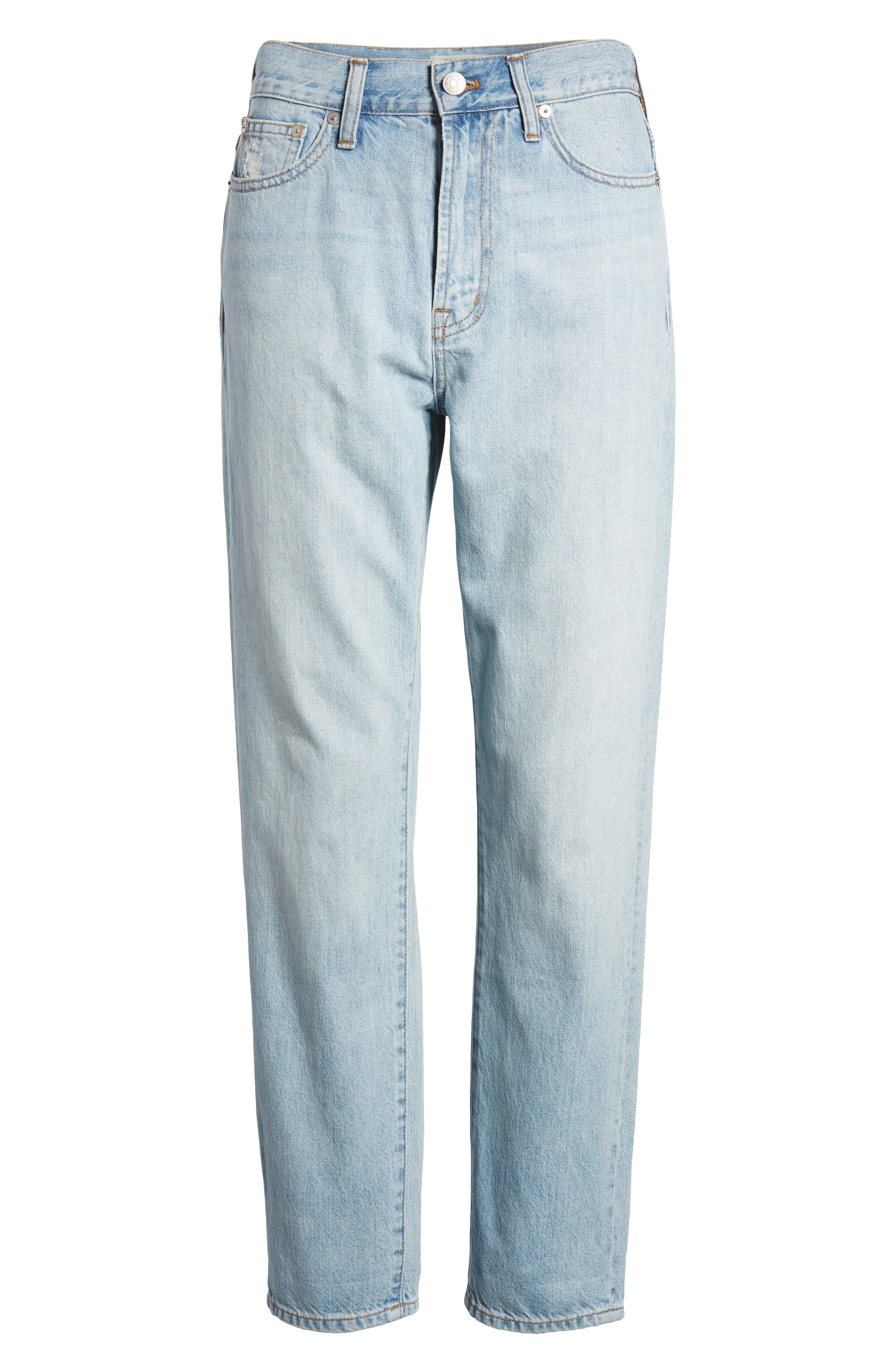 MADEWELL, 'Perfect Summer' High Rise Ankle Jeans, Alternate thumbnail 11, color, FITZGERALD WASH