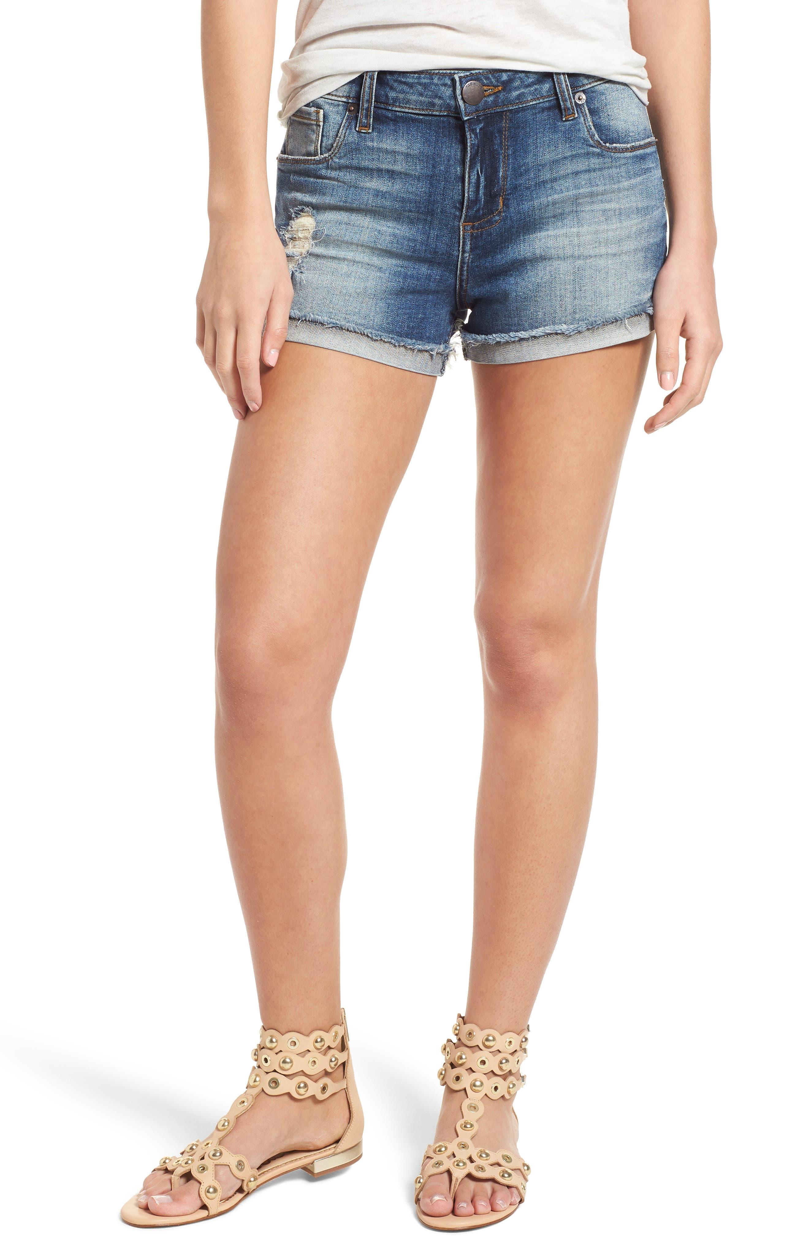 STS BLUE Boyfriend Denim Shorts, Main, color, 400