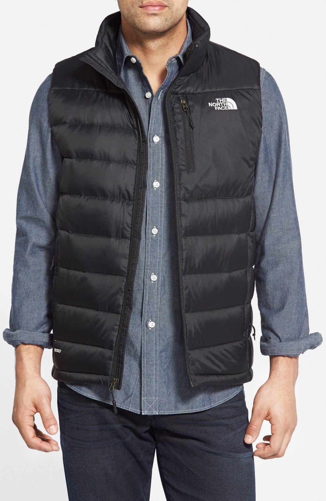 THE NORTH FACE 'Aconcagua' Goose Down Vest, Main, color, 001
