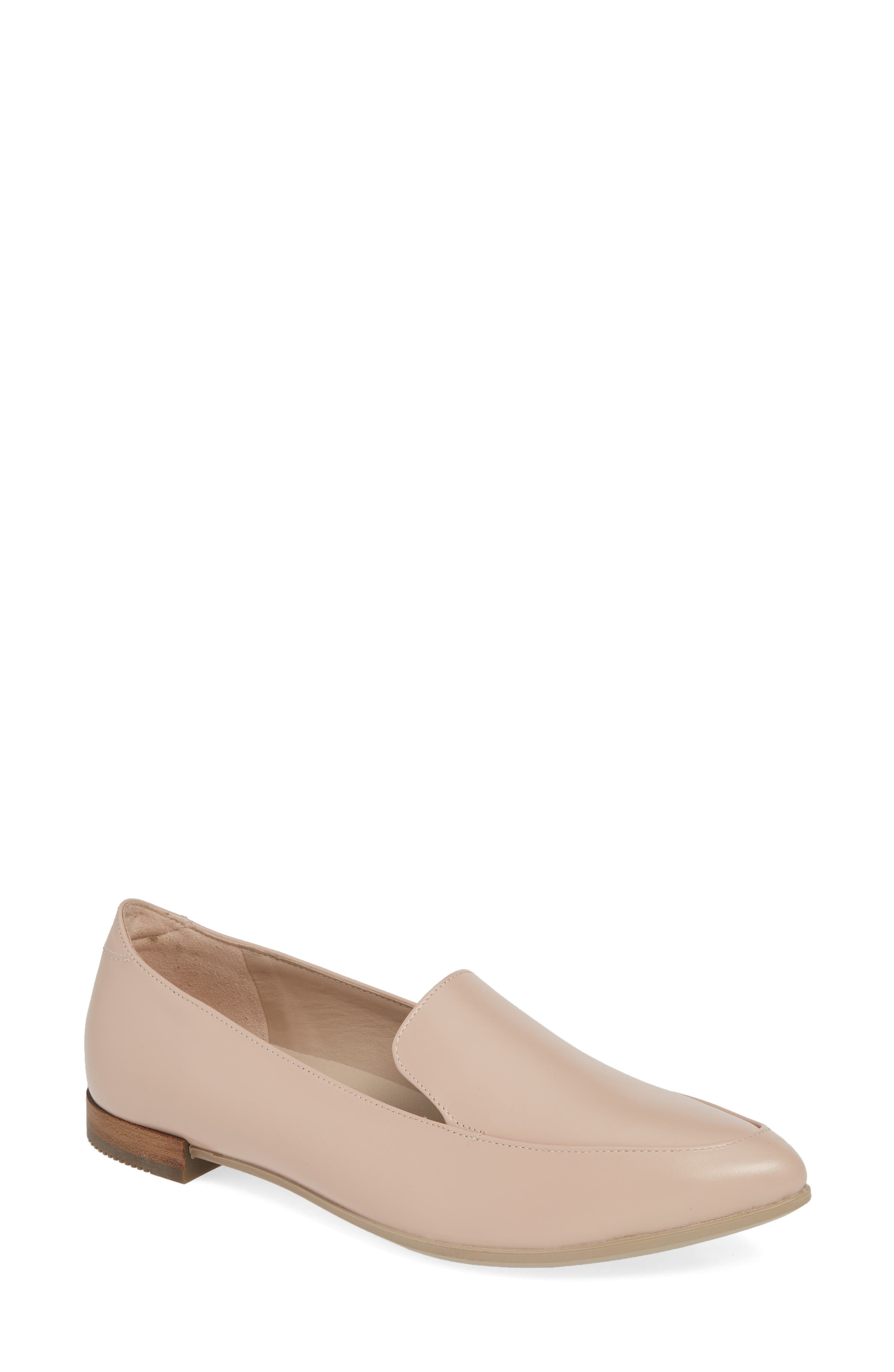 ECCO, Shape Pointy Ballerina II Flat, Main thumbnail 1, color, ROSE DUST LEATHER
