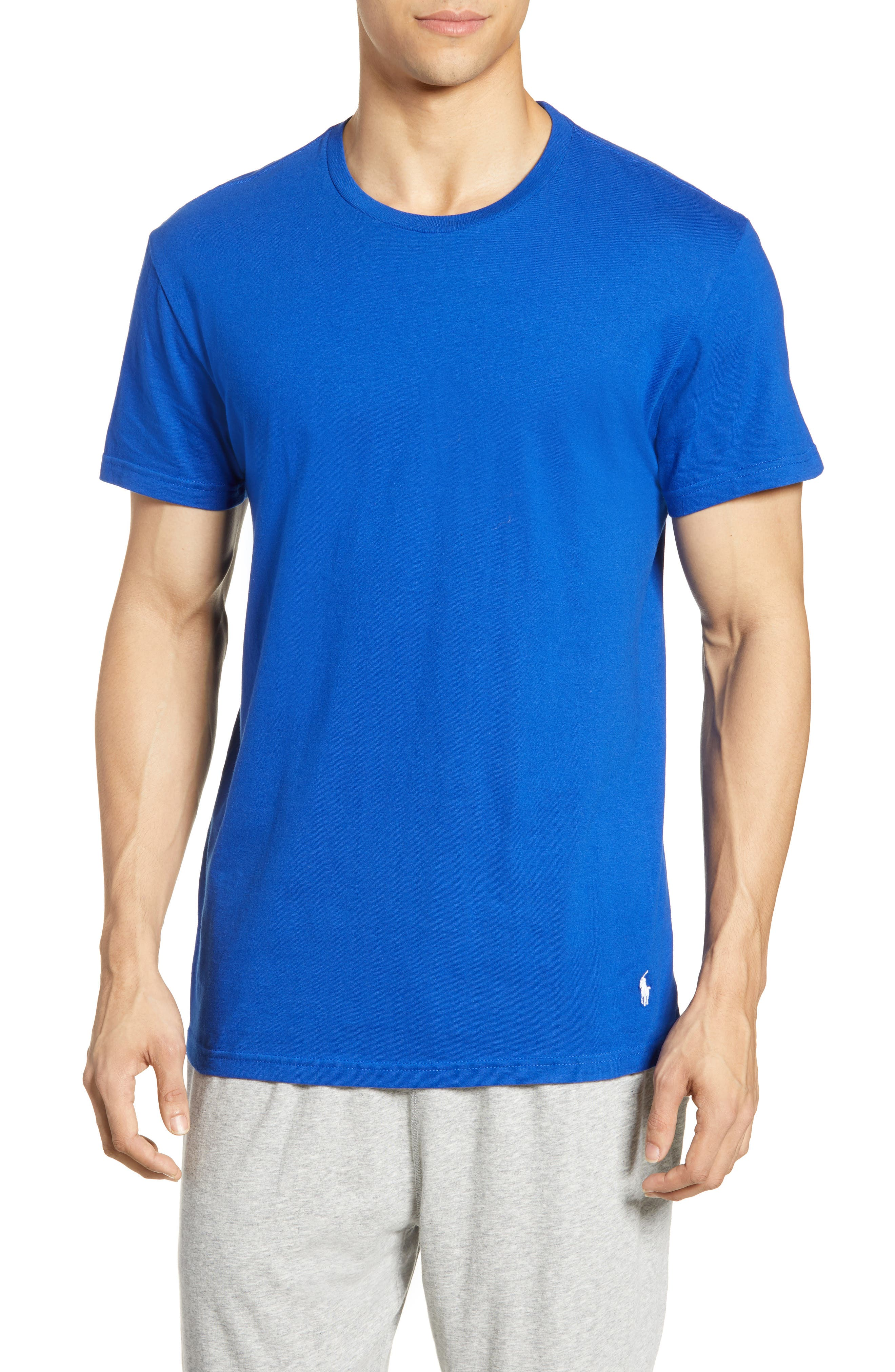 POLO RALPH LAUREN, 3-Pack Crewneck T-Shirts, Alternate thumbnail 2, color, CRUISE ROYAL/ RED/ CRUISE NAVY