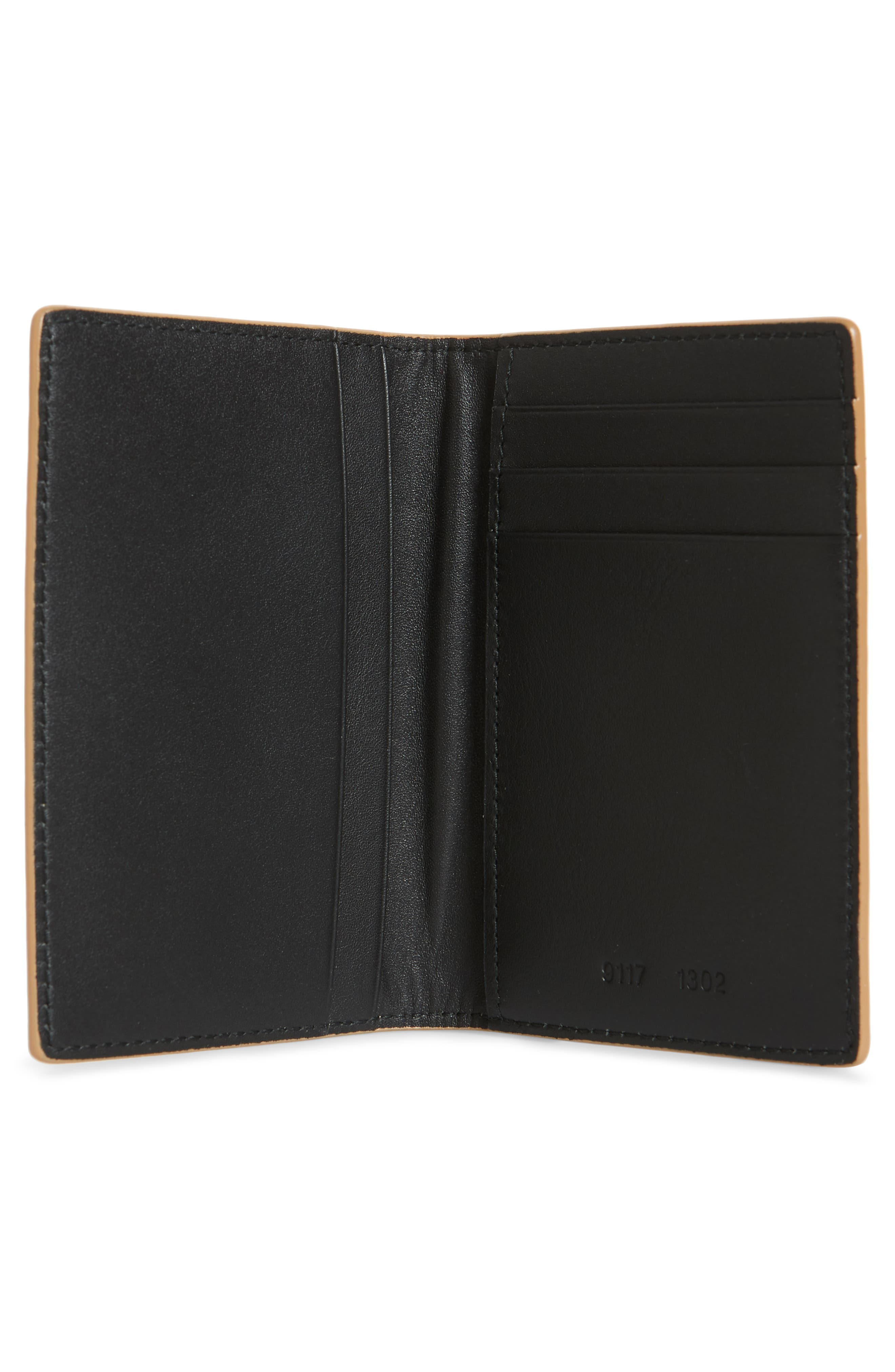 COMMON PROJECTS, Nappa Leather Folio Wallet, Alternate thumbnail 2, color, 250