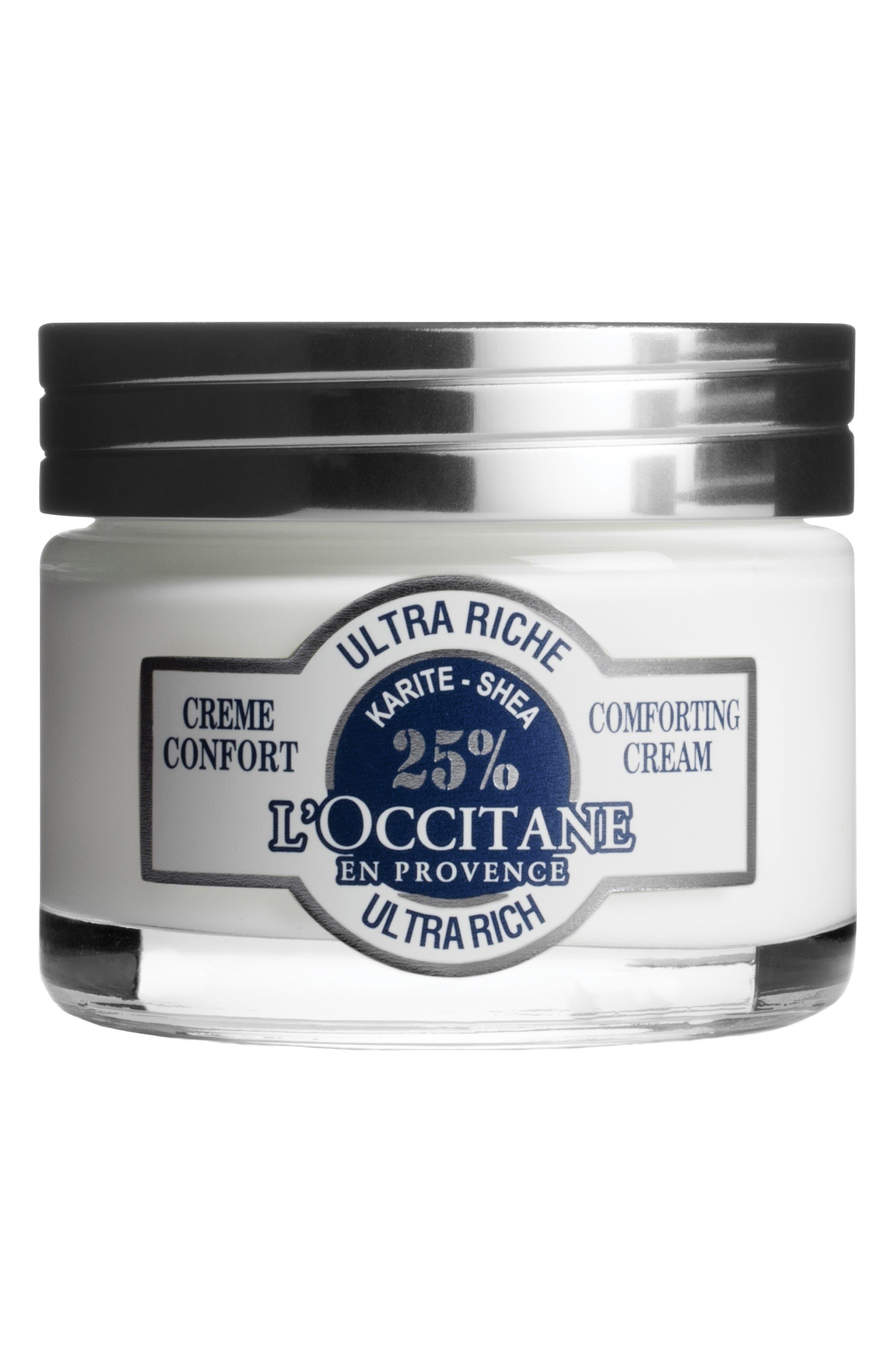 L'OCCITANE, Shea Ultra Rich Comforting Cream, Main thumbnail 1, color, NO COLOR