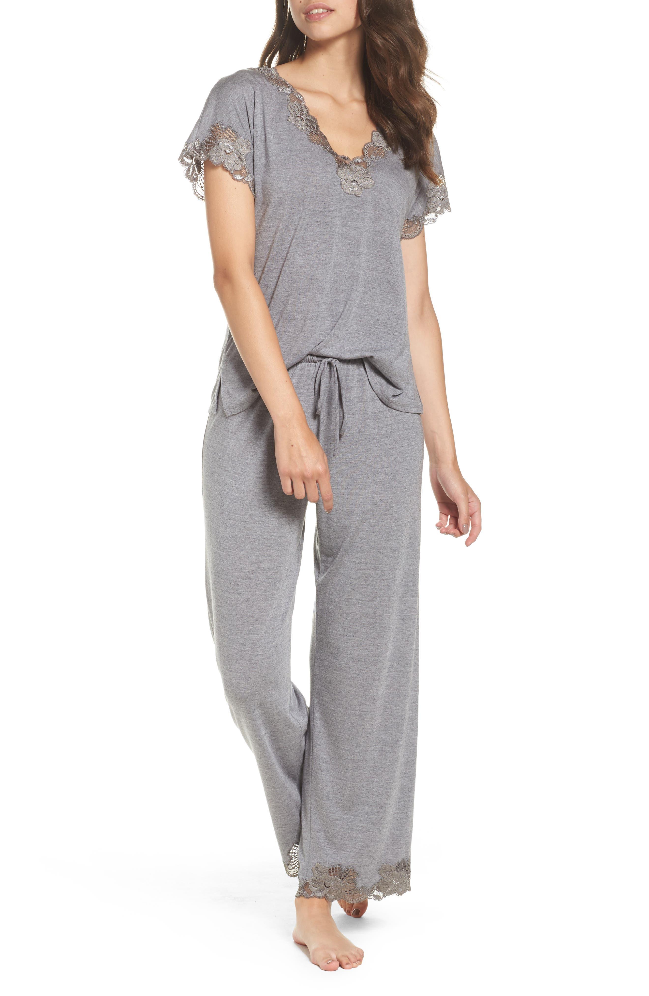 NATORI, 'Zen Floral' Pajama Set, Main thumbnail 1, color, 051