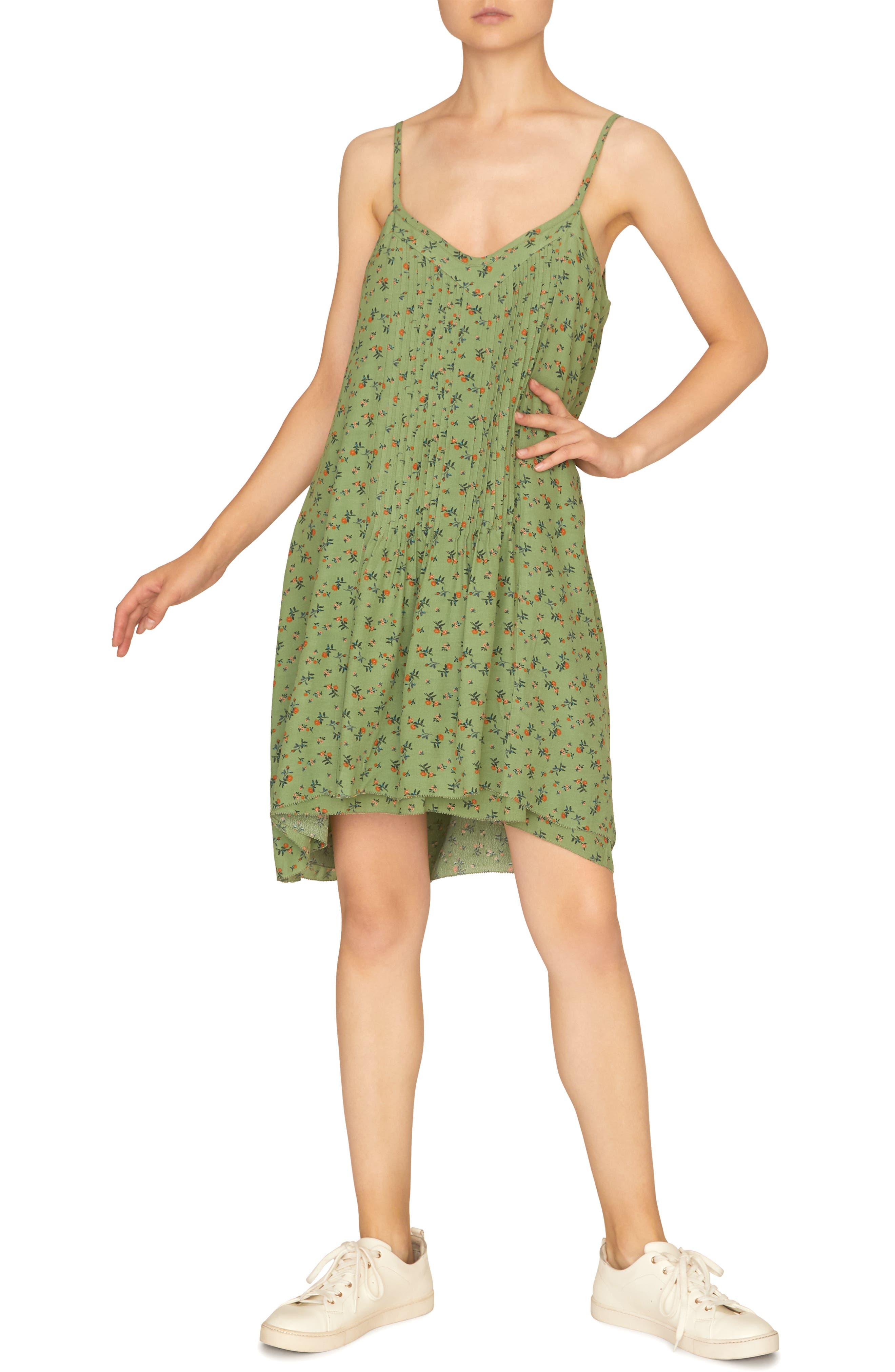 Petite Sanctuary Spring Ahead Tank Dress, Green