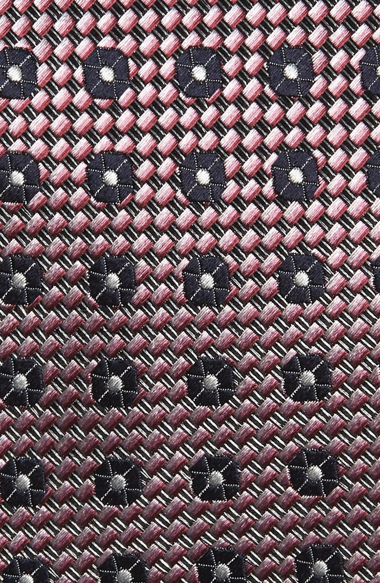 ERMENEGILDO ZEGNA, Medallion Silk Tie, Alternate thumbnail 2, color, PINK