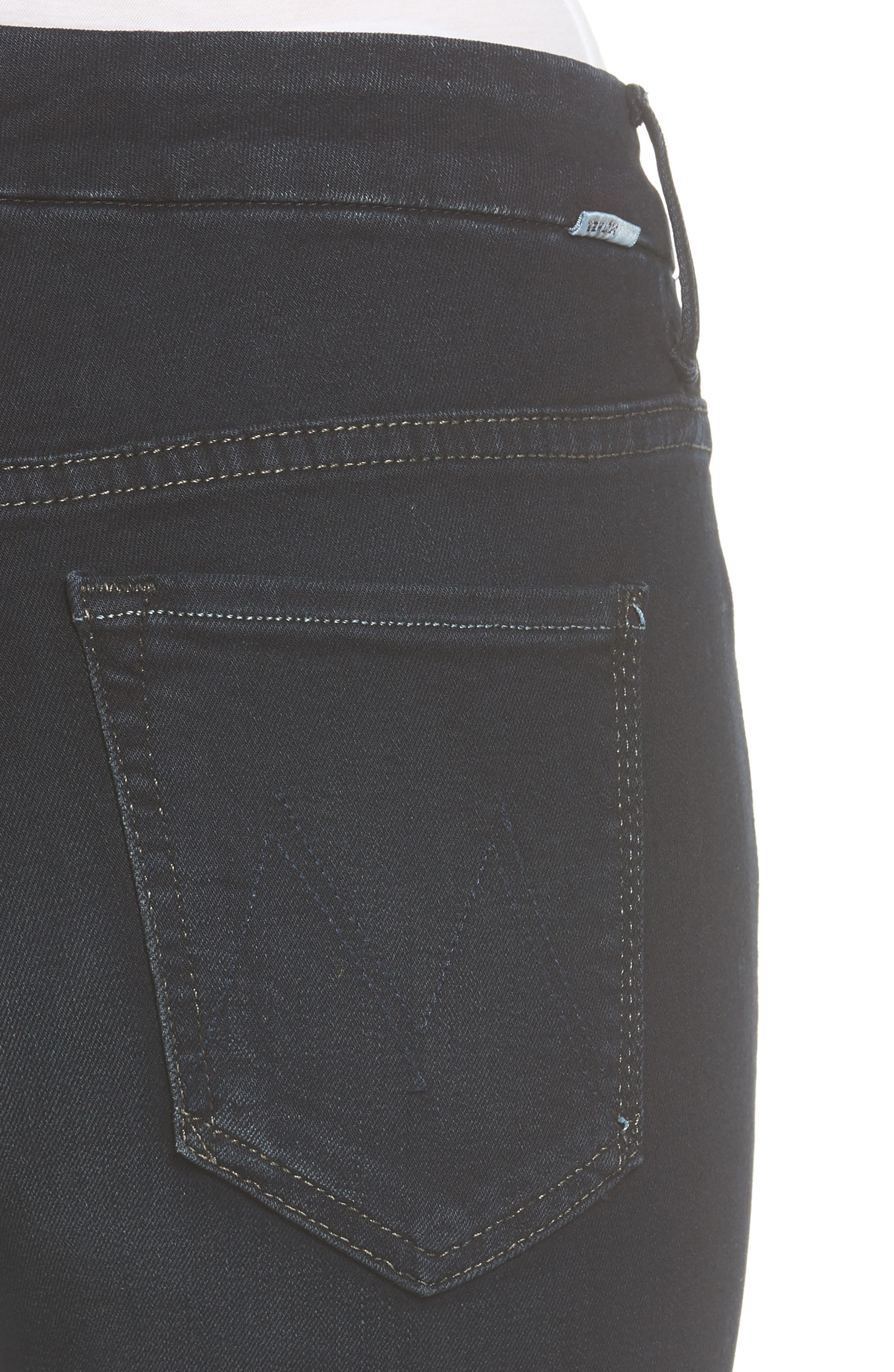 MOTHER, 'The Looker' High Rise Skinny Jeans, Alternate thumbnail 5, color, COFFEE TEA OR ME