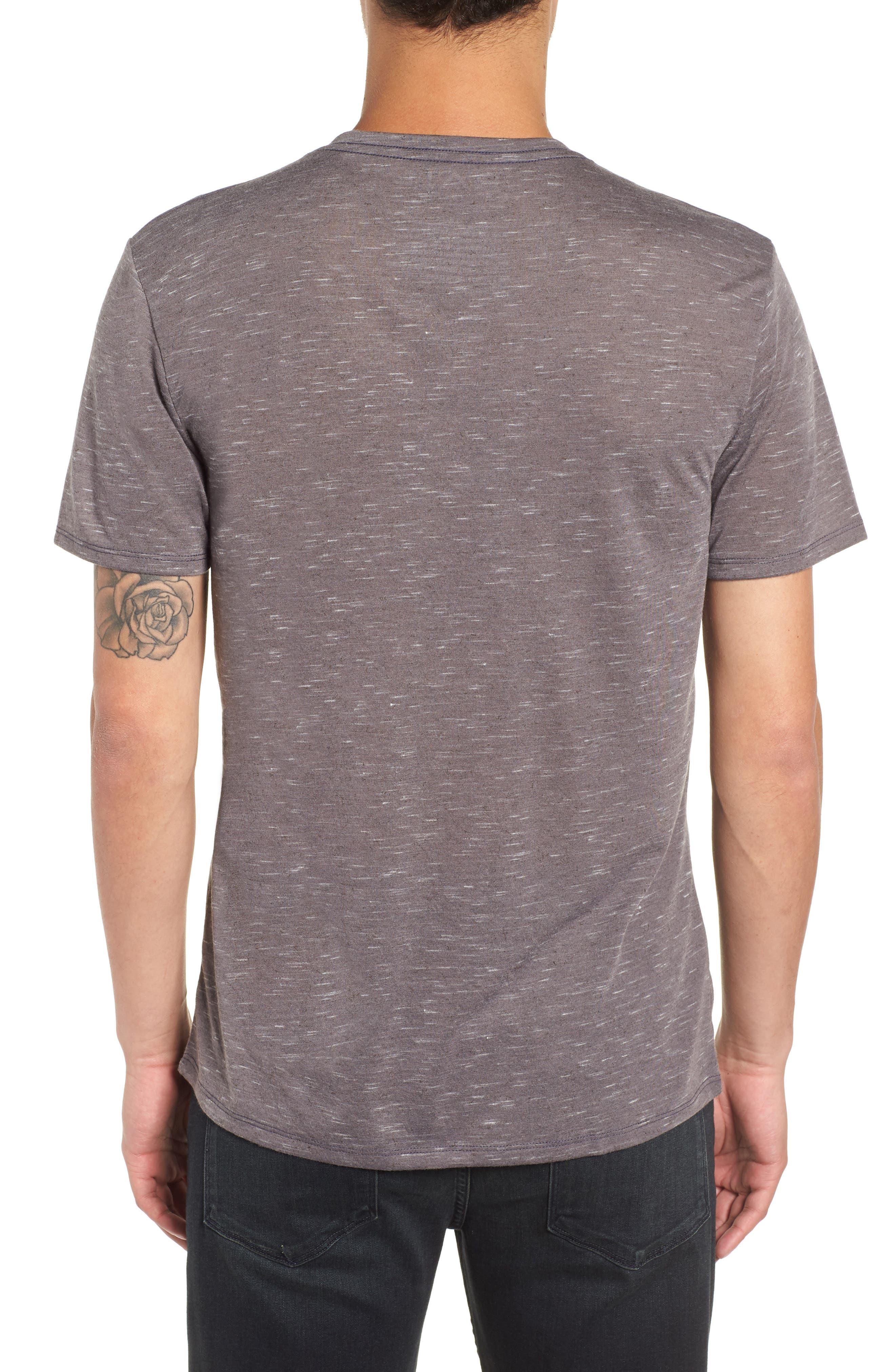 THE RAIL, Streaky V-Neck T-Shirt, Alternate thumbnail 2, color, GREY TORNADO- WHITE