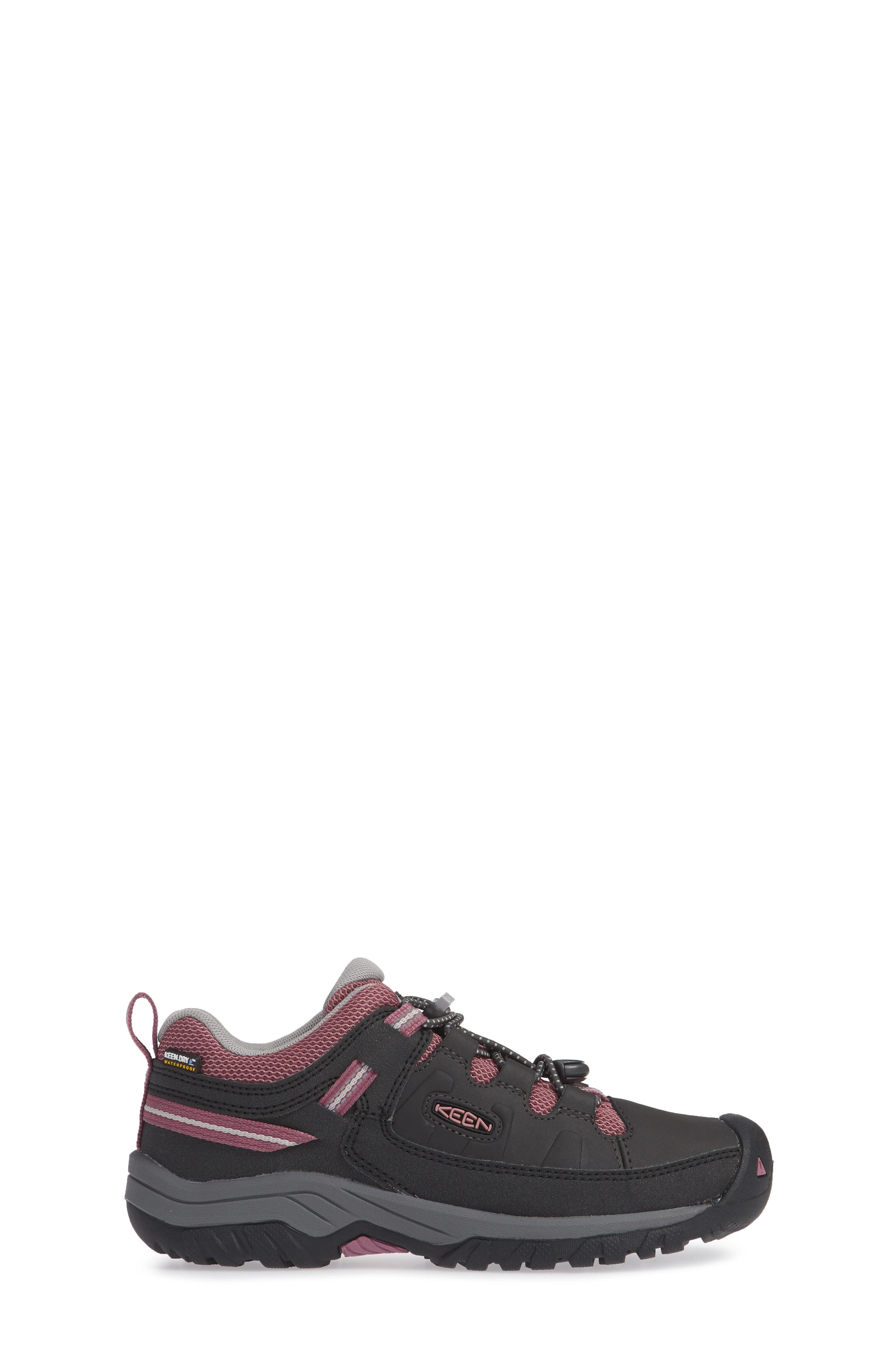 KEEN, Targhee Low Waterproof Boots, Alternate thumbnail 3, color, RAVEN/ TULIPWOOD/ TULIPWOOD